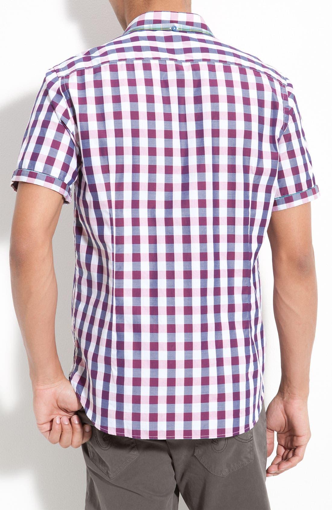 Alternate Image 2  - Ted Baker London Check Plaid Woven Shirt