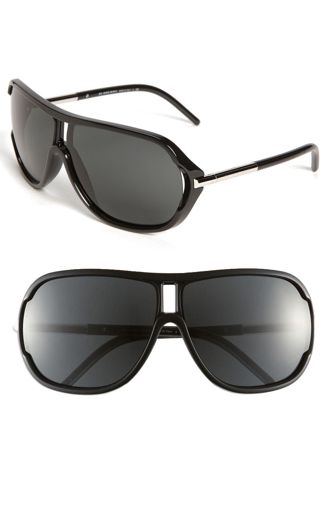 Main Image - Burberry Aviator Sunglasses
