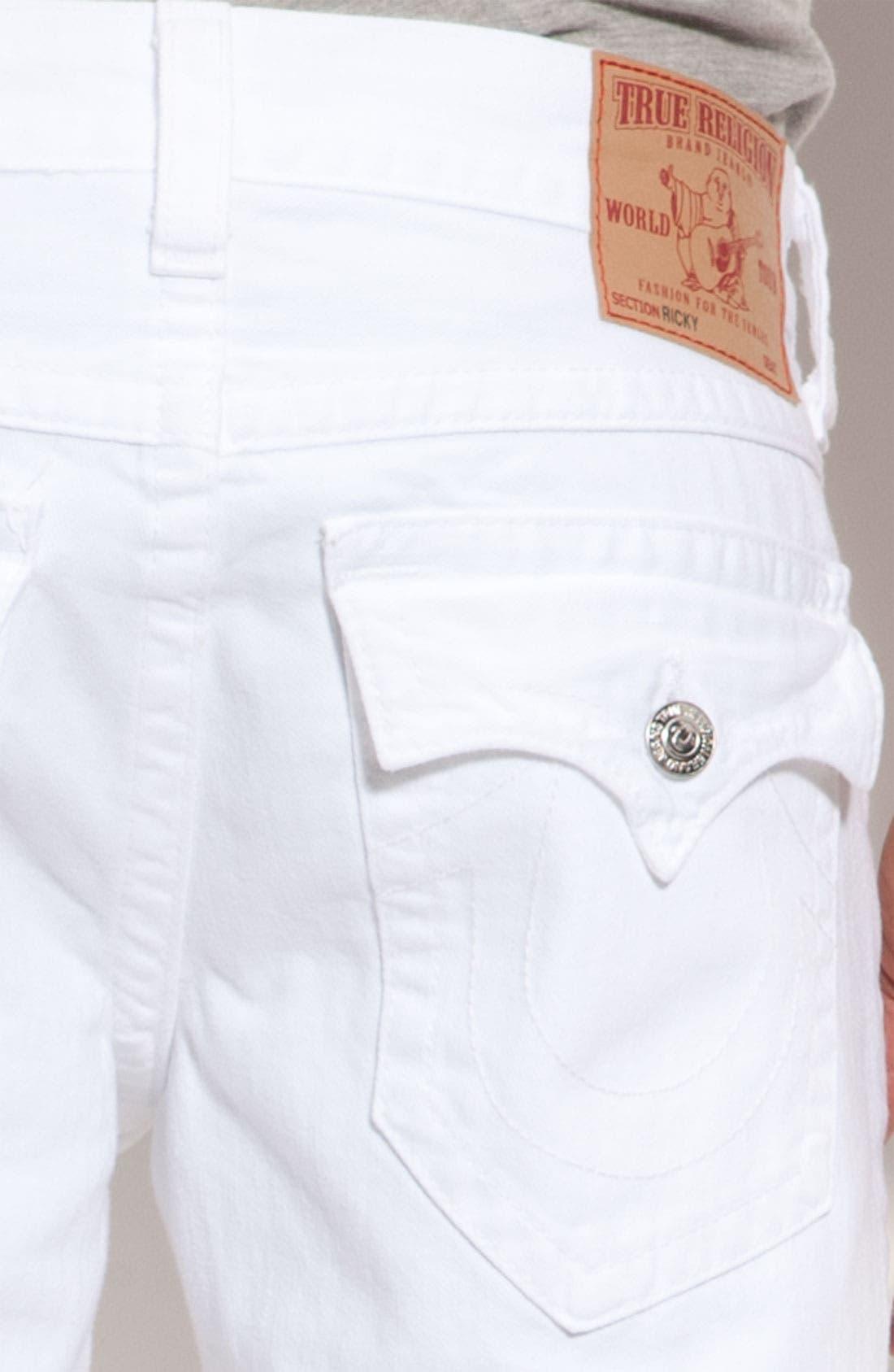 Alternate Image 4  - True Religion Brand Jeans 'Ricky' Relaxed Straight Leg Jeans (Optic Rinse)
