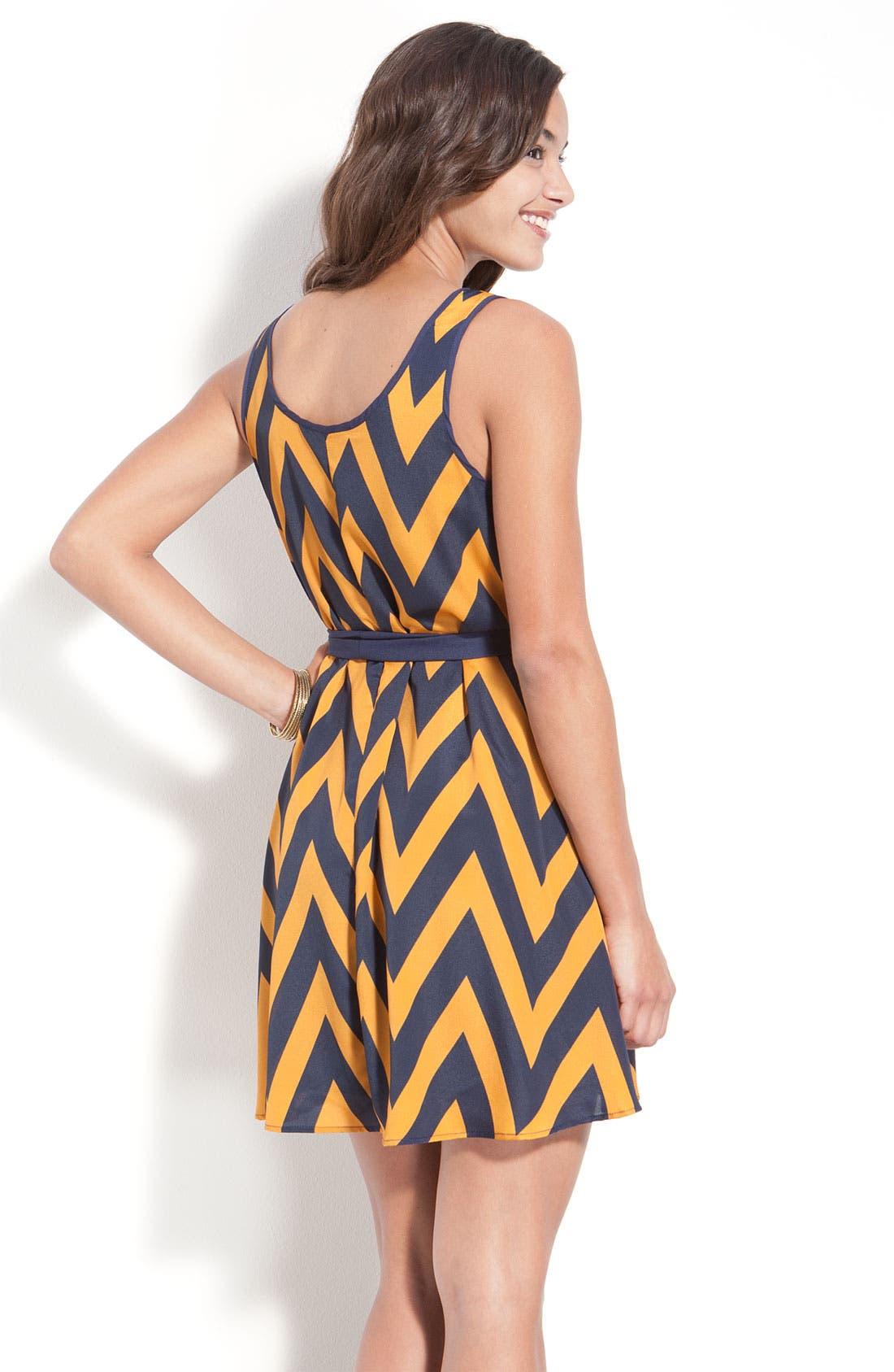 Alternate Image 2  - Lush Zigzag Tank Dress (Juniors)