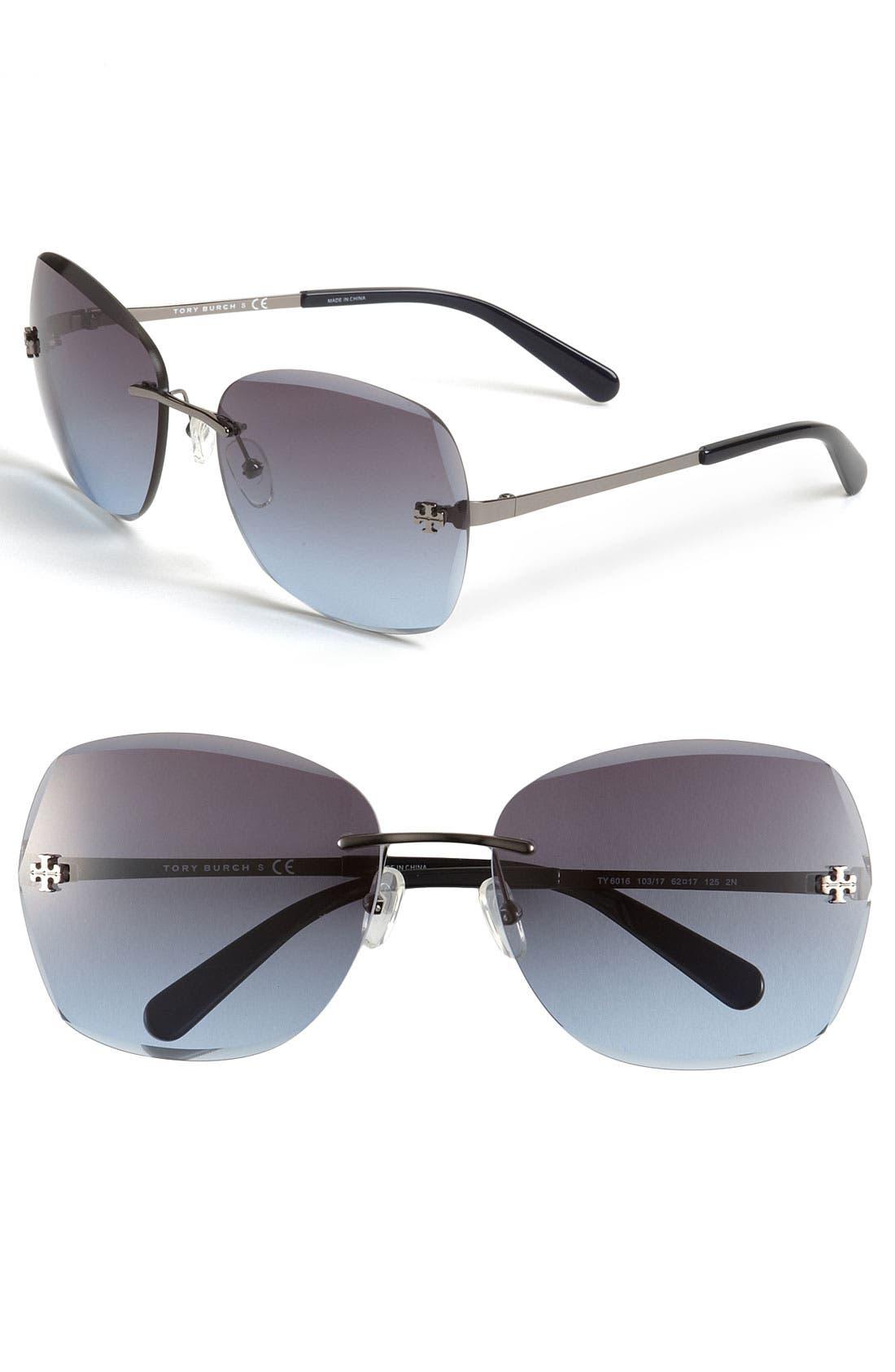 Alternate Image 1 Selected - Tory Burch Rimless Sunglasses