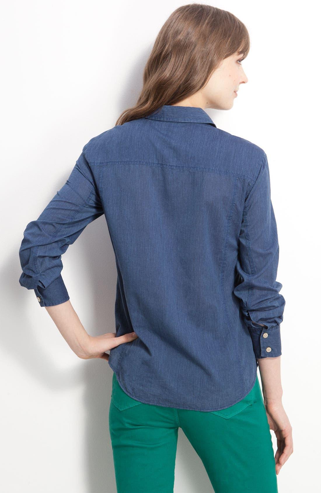 Alternate Image 2  - Caslon® Boyfriend Shirt
