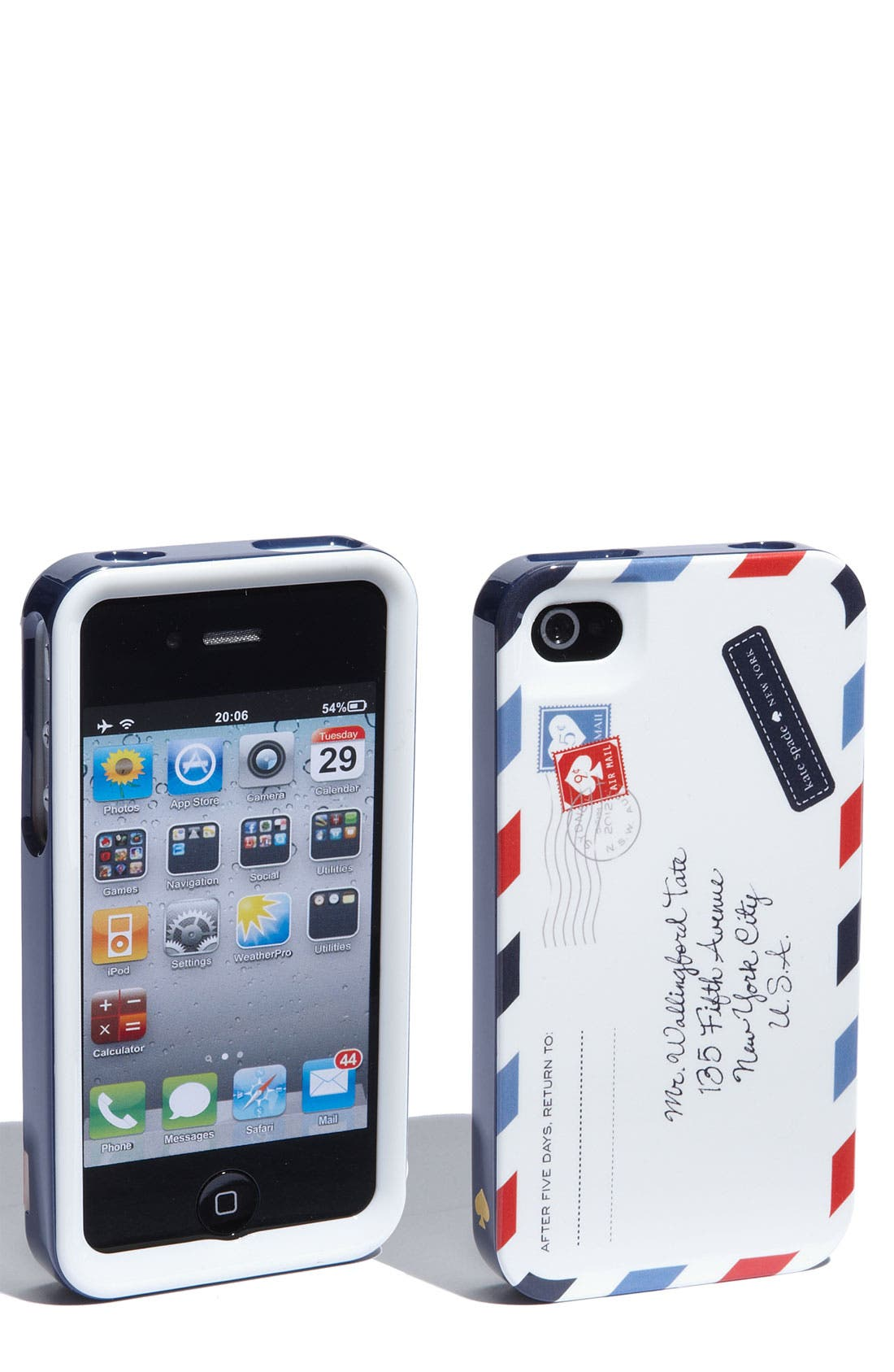Alternate Image 1 Selected - kate spade new york 'airmail' iPhone 4 & 4S case