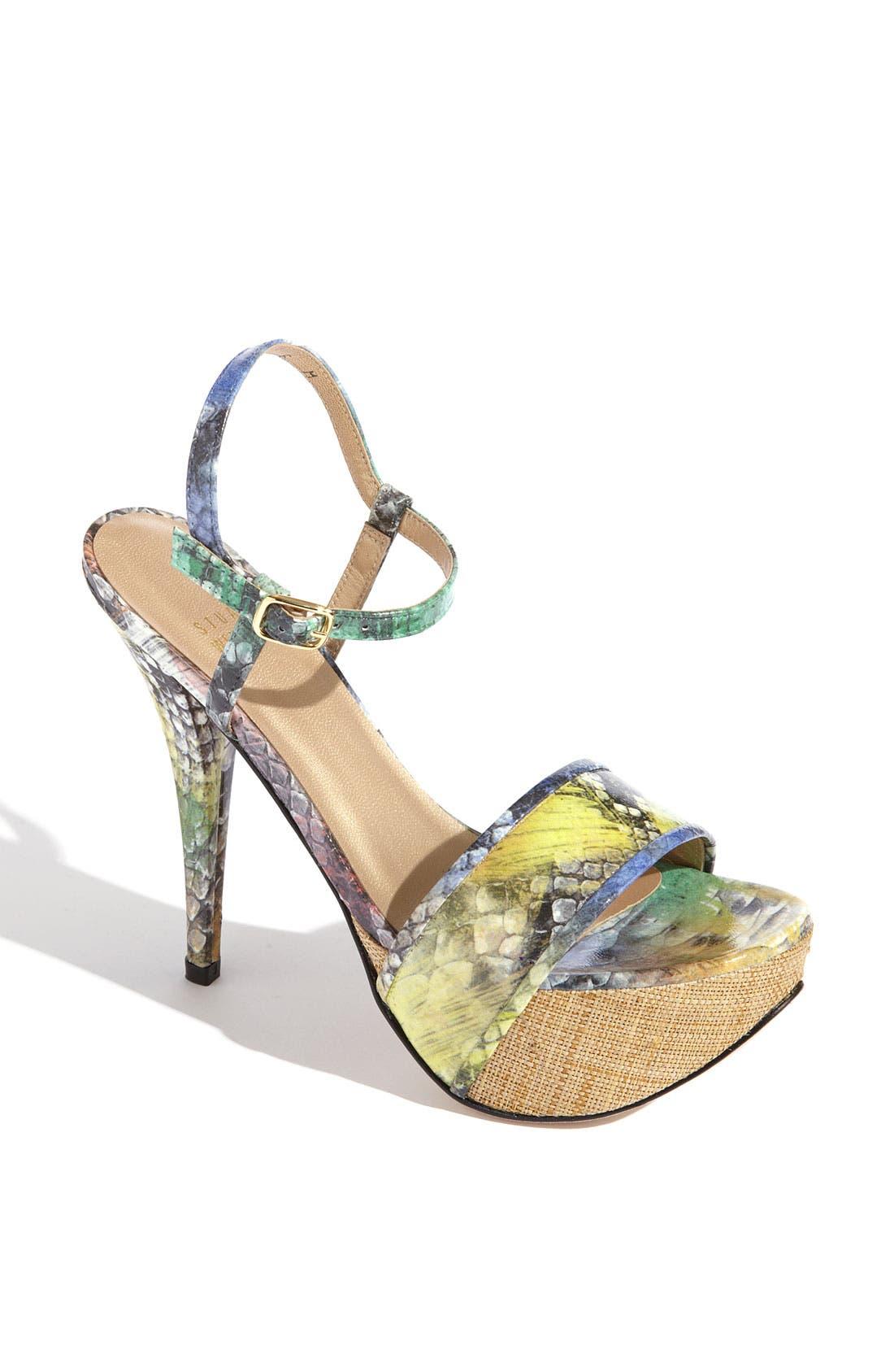 Alternate Image 1 Selected - Stuart Weitzman 'Onceover' High Heel Sandal