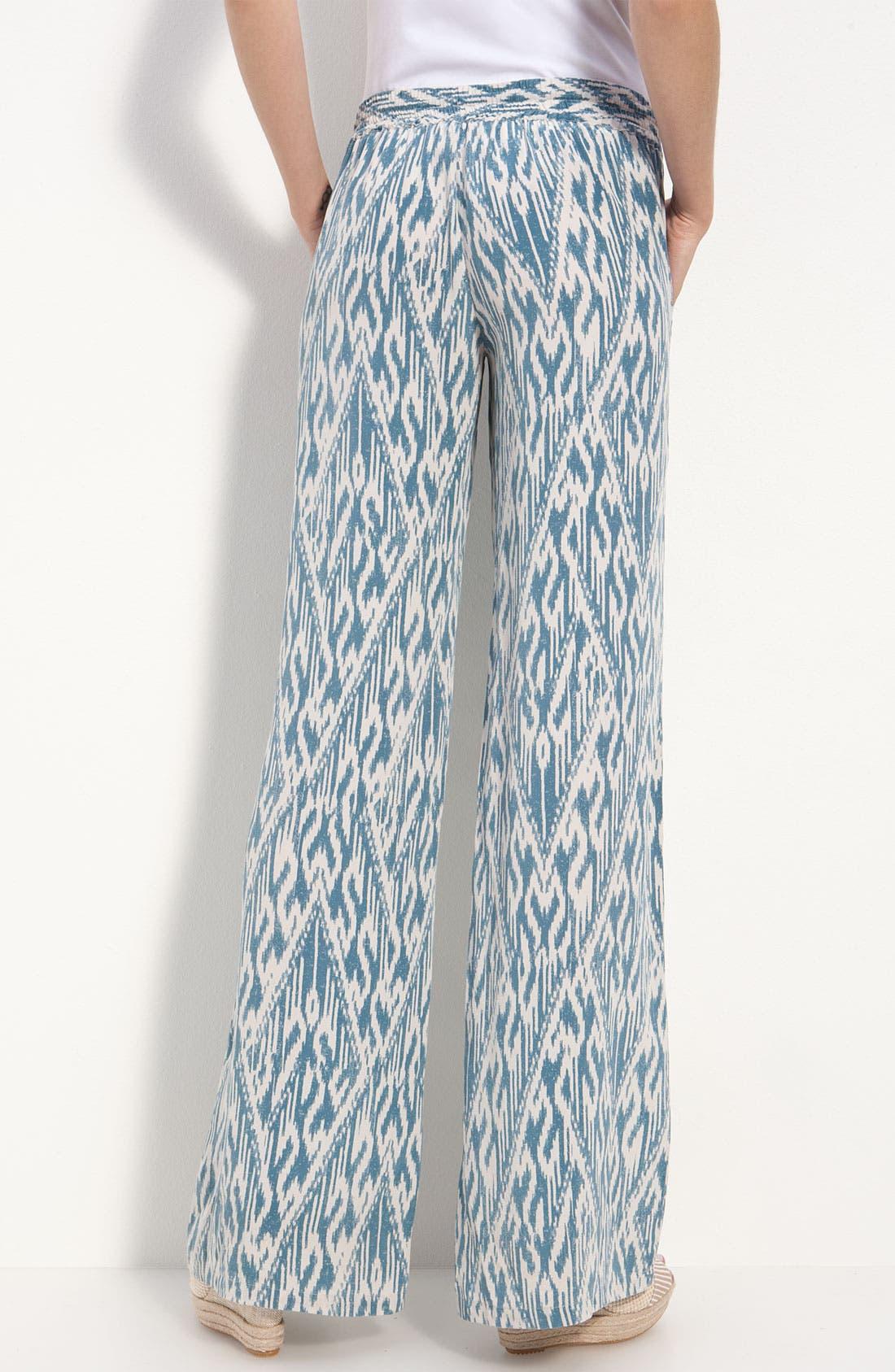 Alternate Image 2  - Joie 'Aryn' Ikat Silk Wide Leg Pants