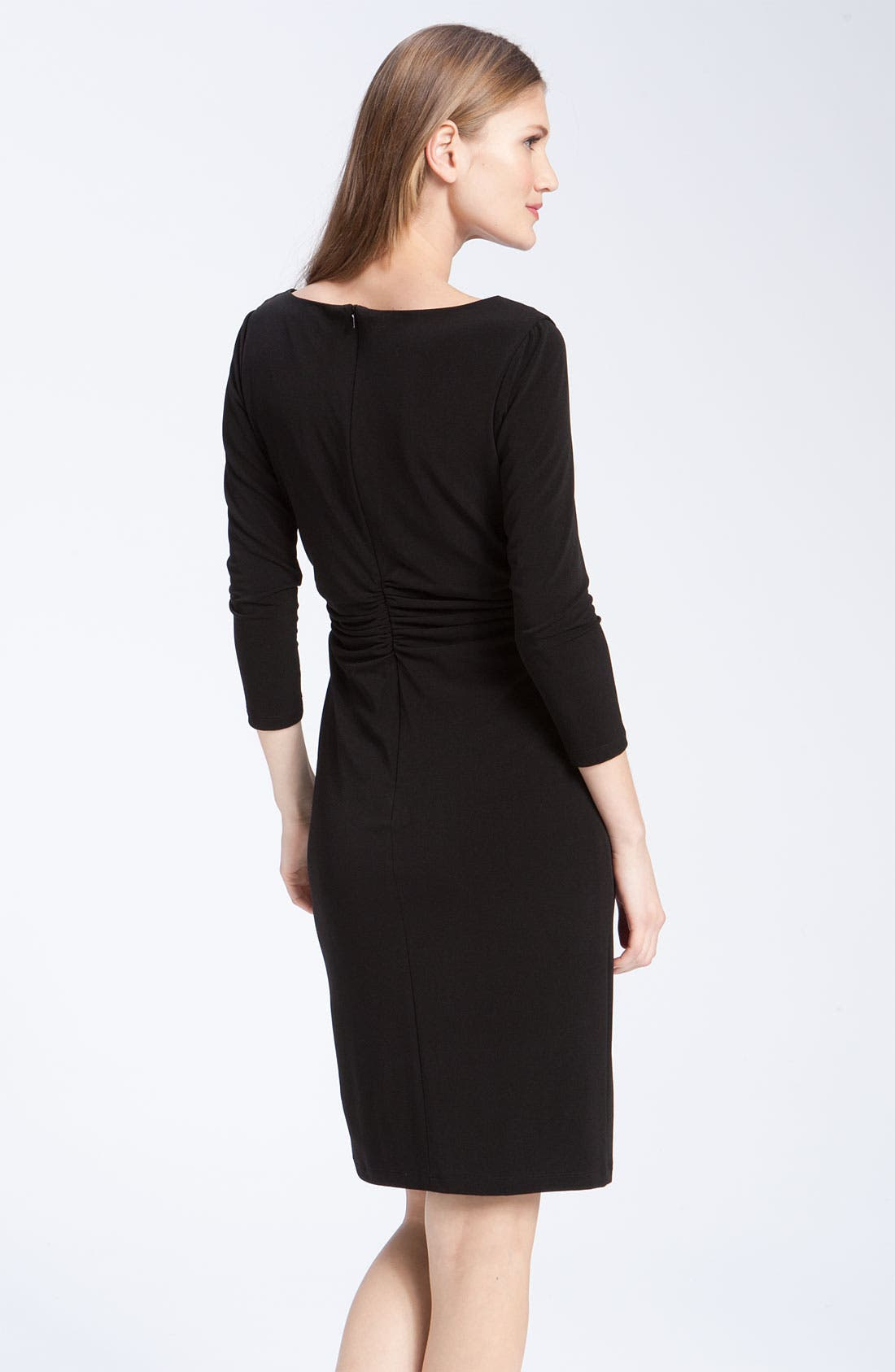 Alternate Image 2  - David Meister Ruched Cowl Neck Jersey Sheath Dress