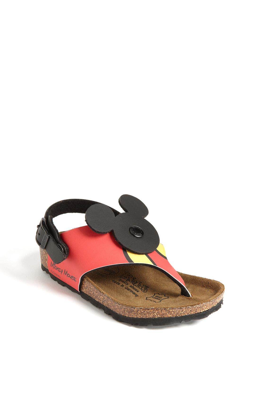 Alternate Image 1 Selected - Birki's® Kids 'Sumatra Mickey' Thong Sandal (Toddler & Little Kid)