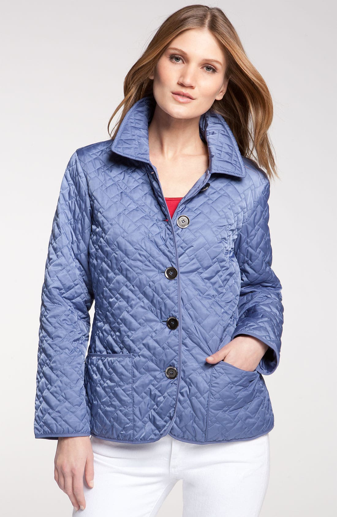 Alternate Image 1 Selected - Cole Haan Short Quilted Jacket (Petite)