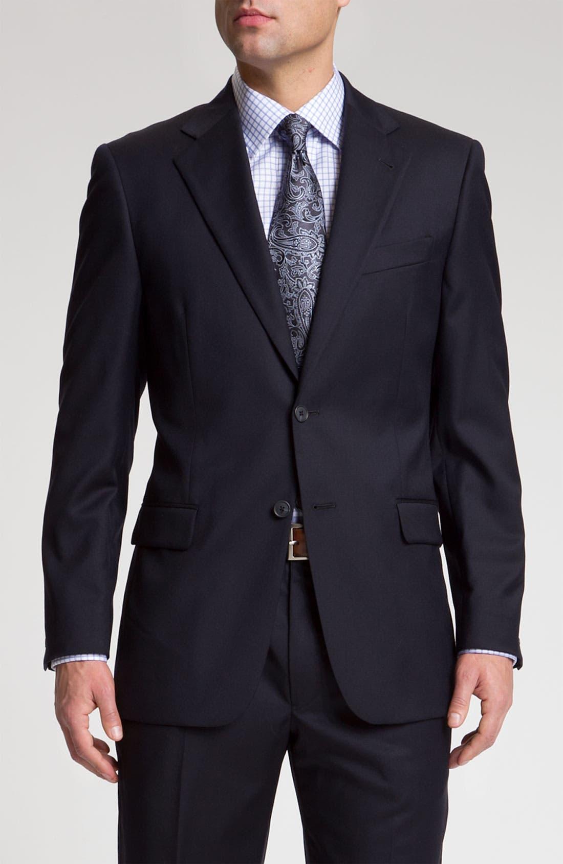 Main Image - Joseph Abboud 'Signature Silver' Navy Wool Suit