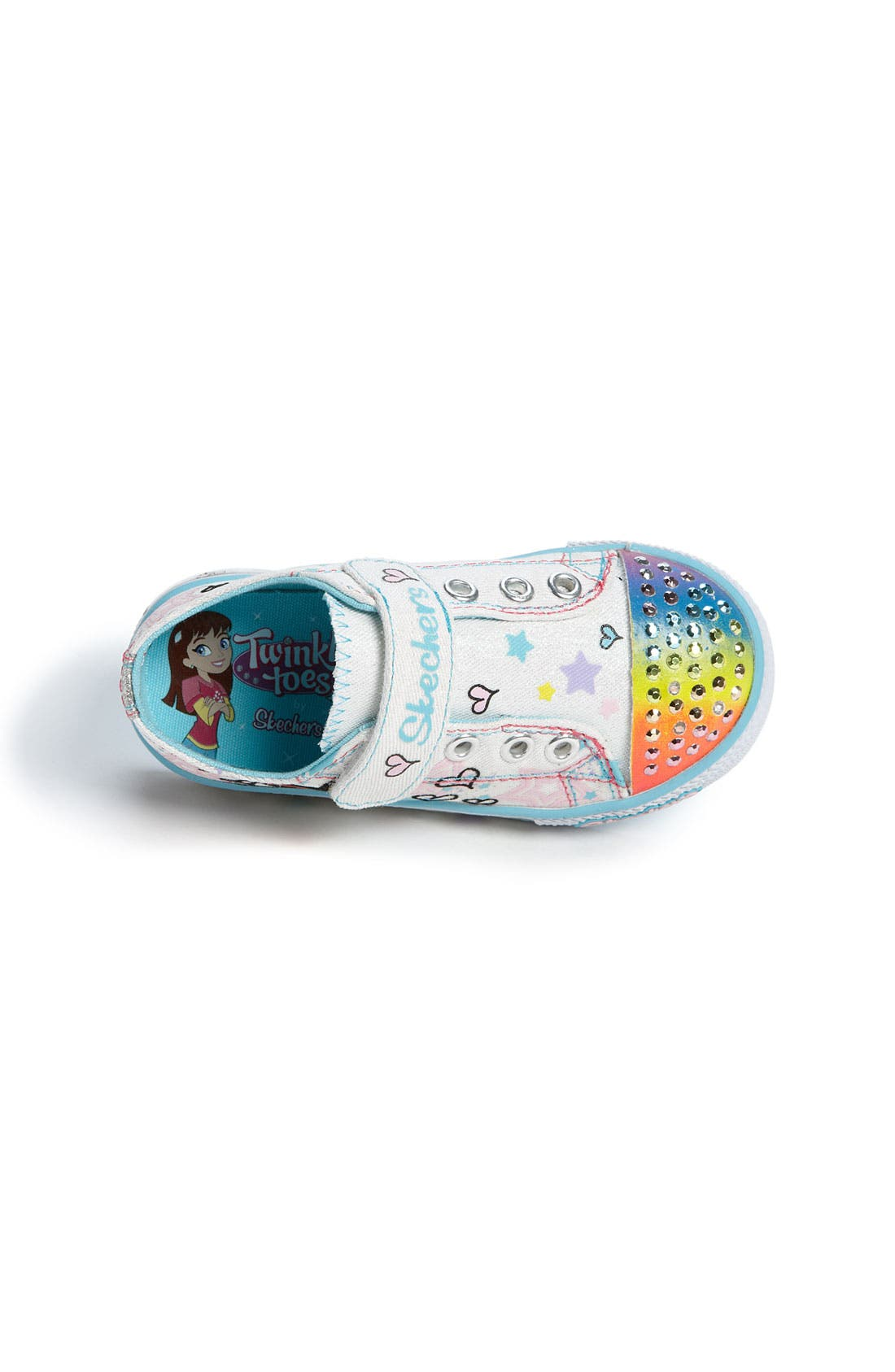 Alternate Image 3  - SKECHERS 'Peekaboo' Sneaker (Walker & Toddler)