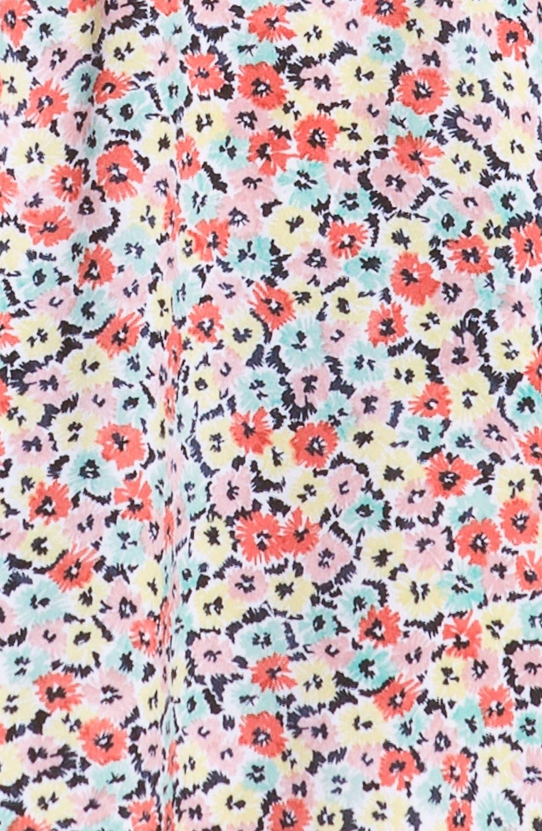 Alternate Image 3  - BCBGeneration Floral Ruffle Sleeve Dress