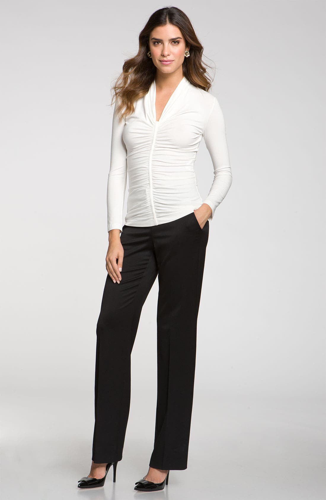 Alternate Image 1 Selected - St. John Collection Stretch Venetian Wool Pants
