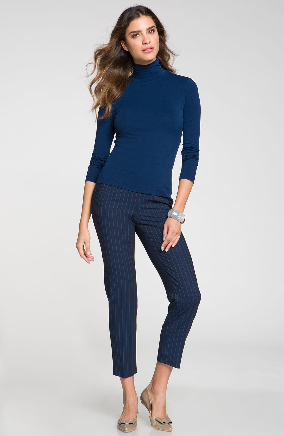 Main Image - St. John Collection Fine Jersey Turtleneck Shell