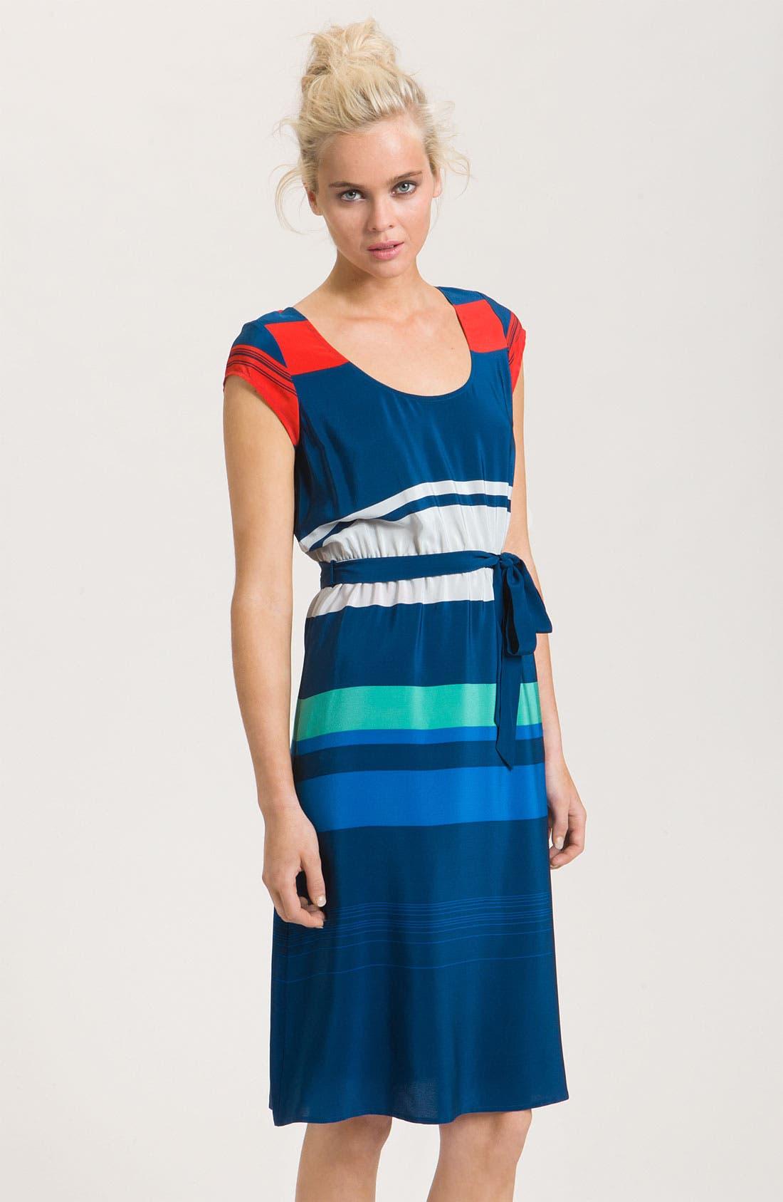 Alternate Image 1 Selected - Presley Skye 'Gwen' Stripe Silk Dress