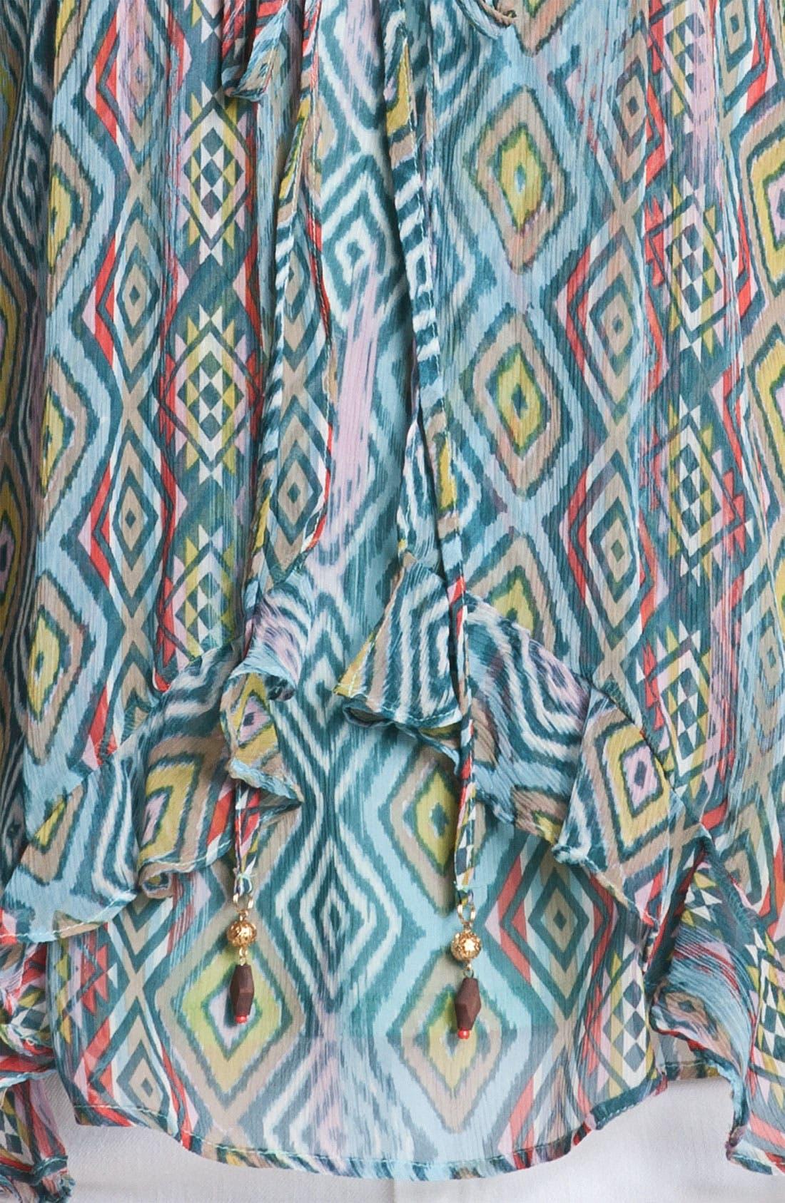 Alternate Image 3  - Ella Moss 'Aztec' Print Silk Flyaway Camisole