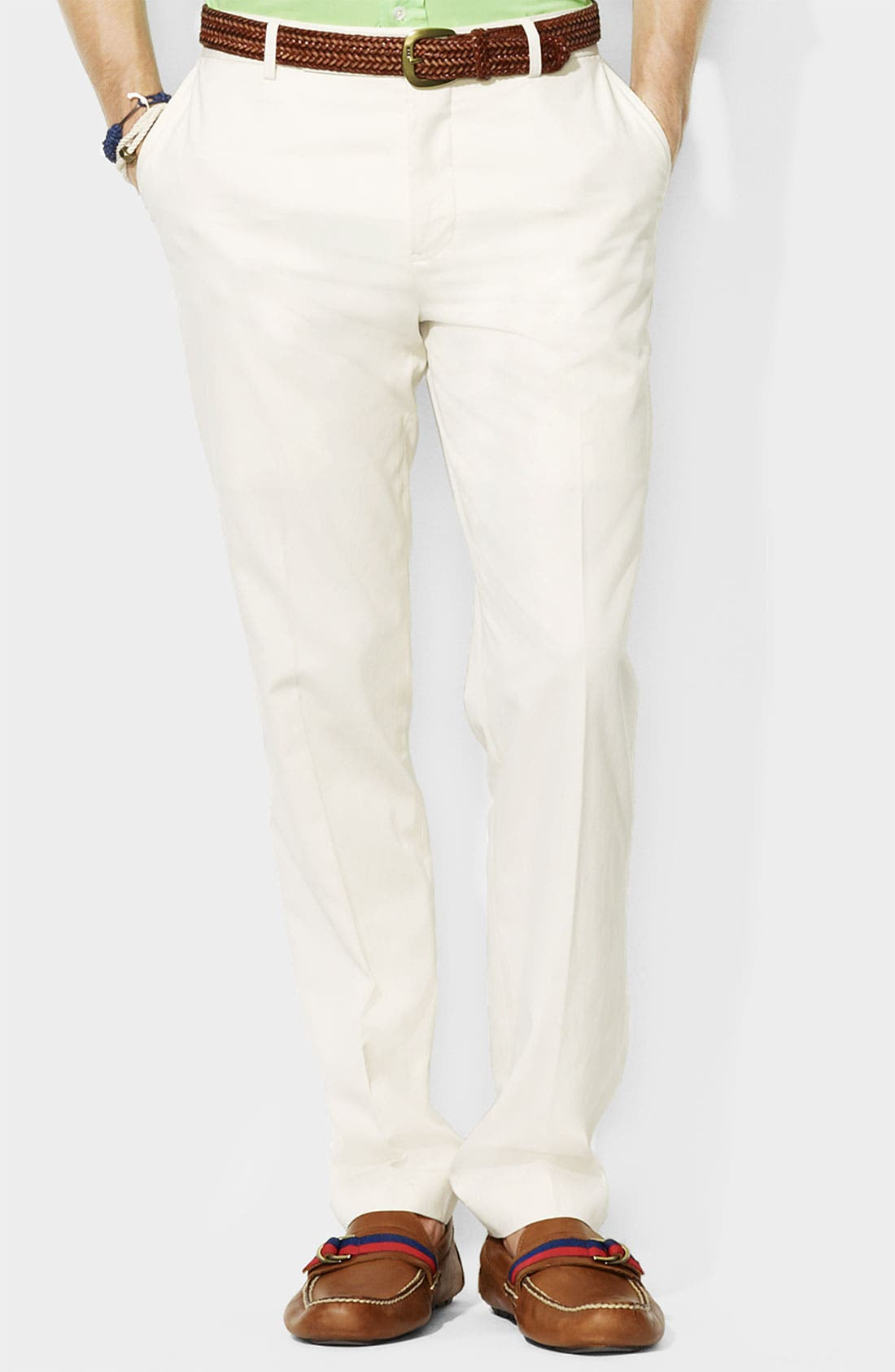 Alternate Image 1 Selected - Polo Ralph Lauren 'Preston' Silk & Cotton Pants