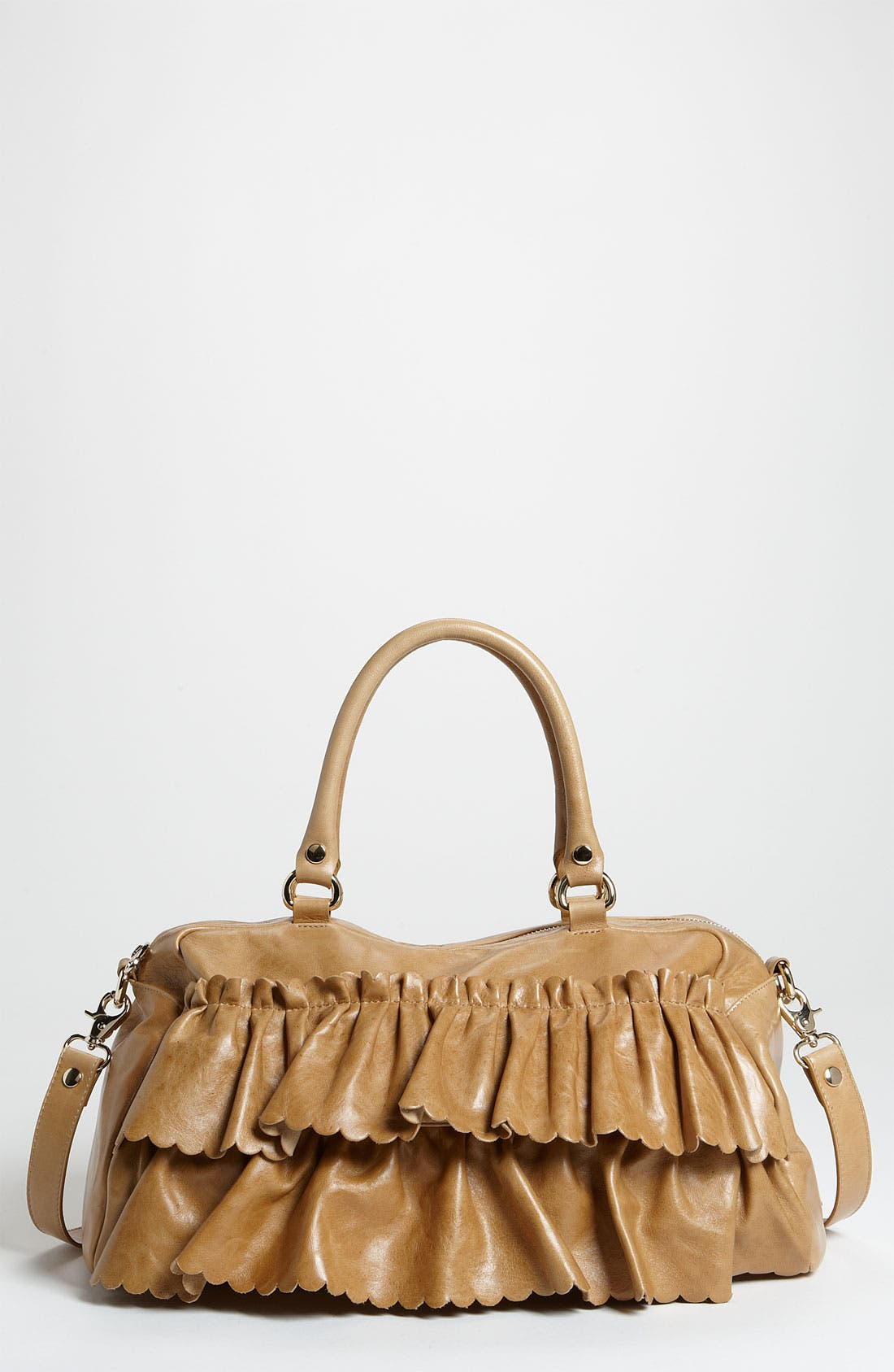 Main Image - RED Valentino 'Vintage Ruffle' Lambskin Leather Satchel