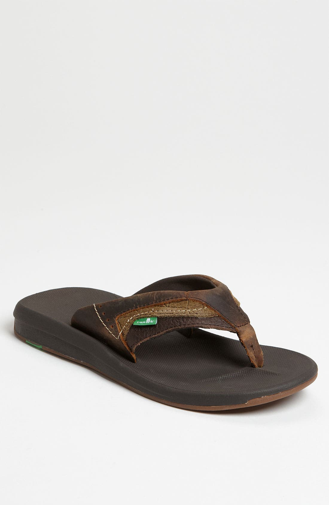 Main Image - Sanuk 'Switch' Leather Flip Flop
