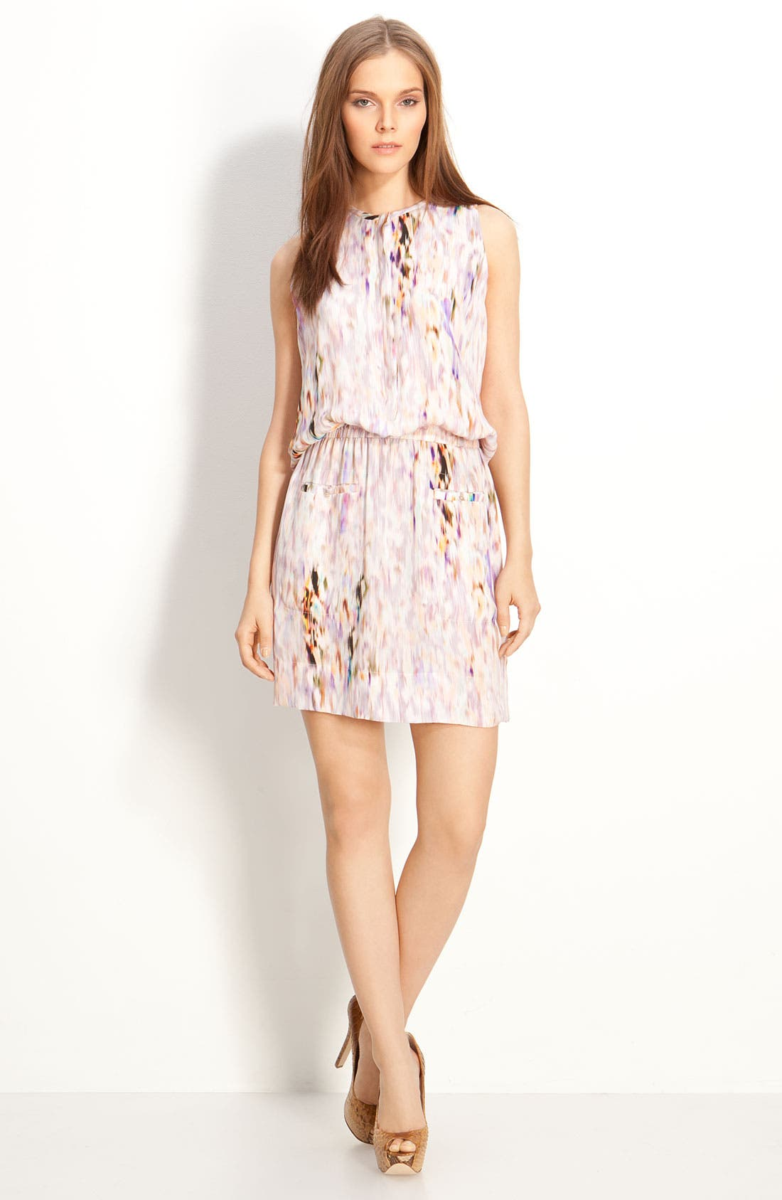 Alternate Image 1 Selected - A.L.C. 'Antonella' Print Silk Dress
