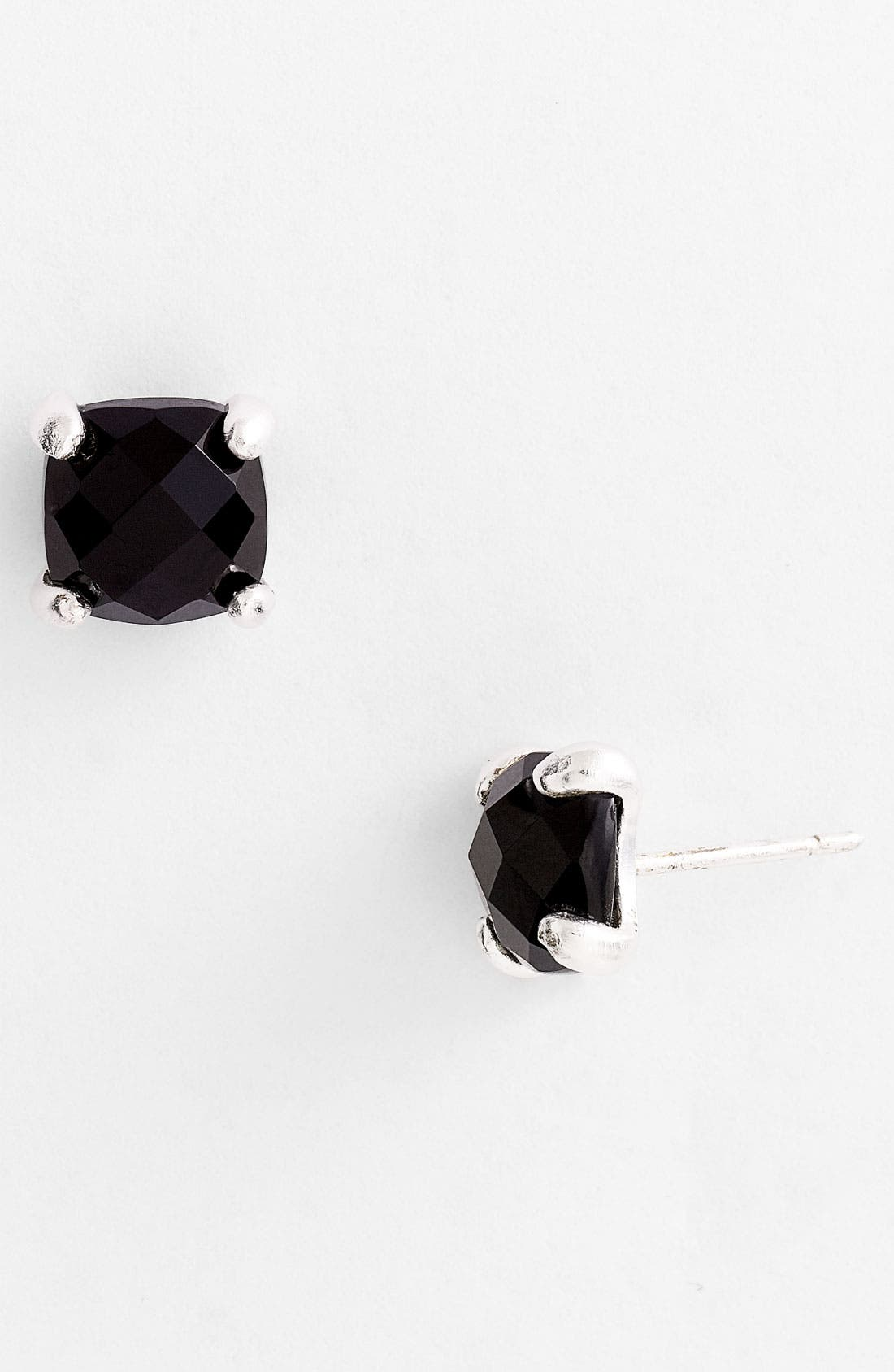 Alternate Image 1 Selected - NuNu Designs Square Semiprecious Stud Earrings