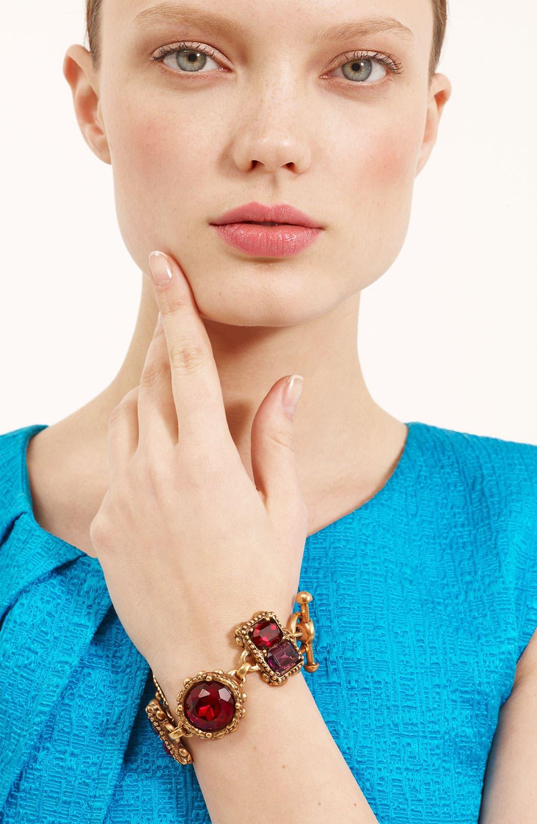 Alternate Image 1 Selected - Oscar de la Renta Faceted Stone Bracelet