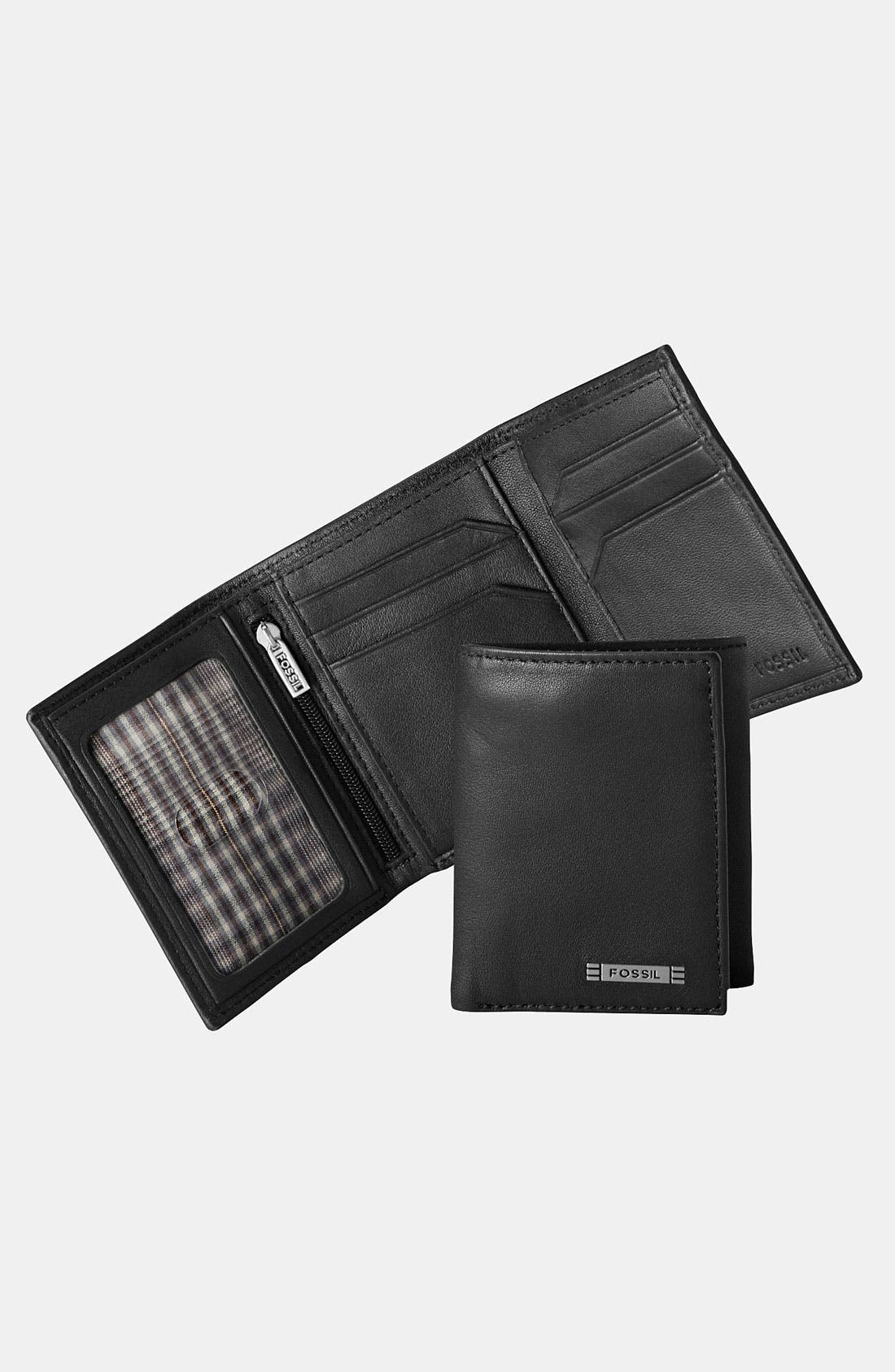 Main Image - Fossil 'Evans' Leather Trifold Wallet