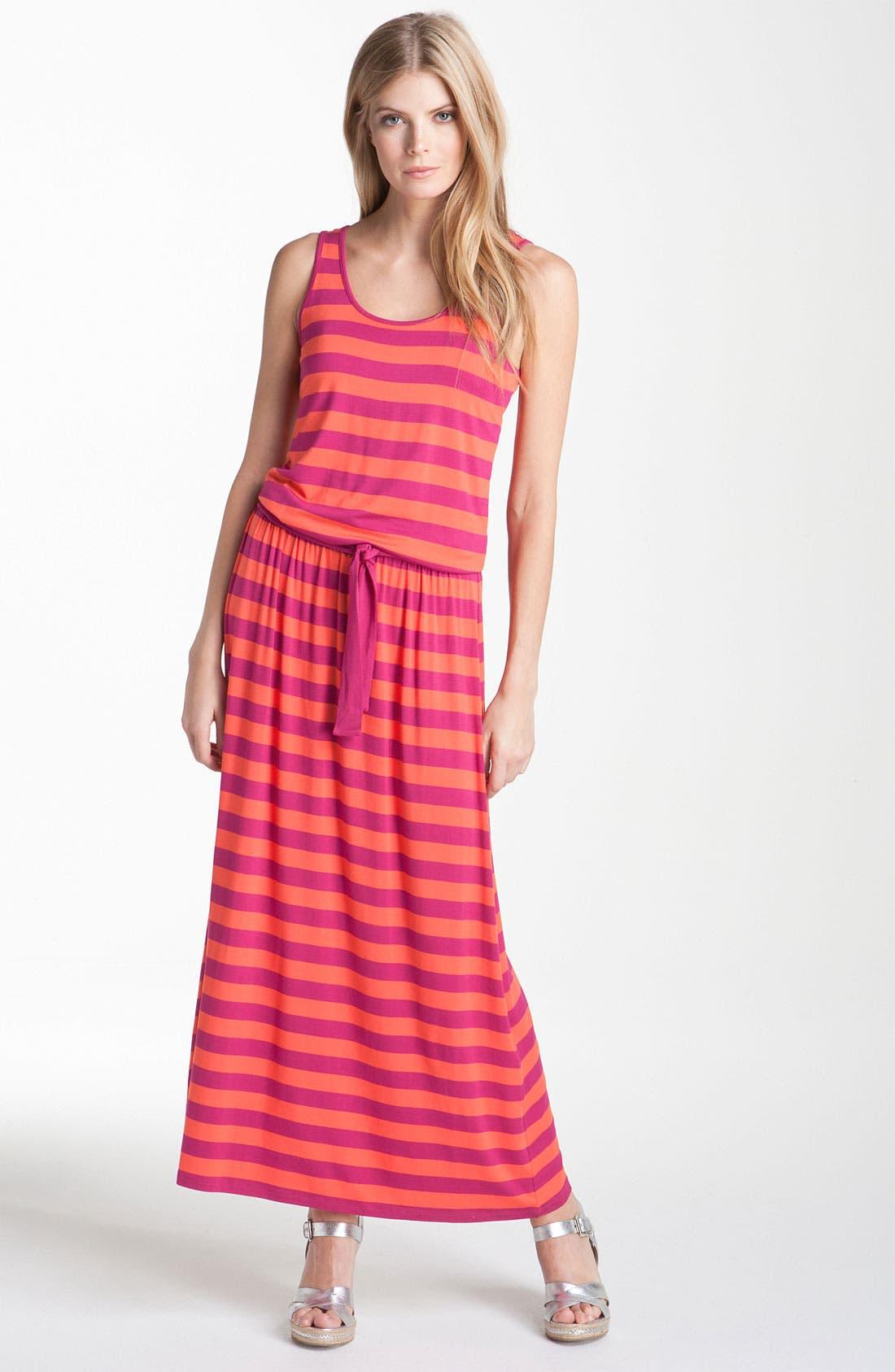 Alternate Image 1 Selected - MICHAEL Michael Kors Stripe Jersey Maxi Dress