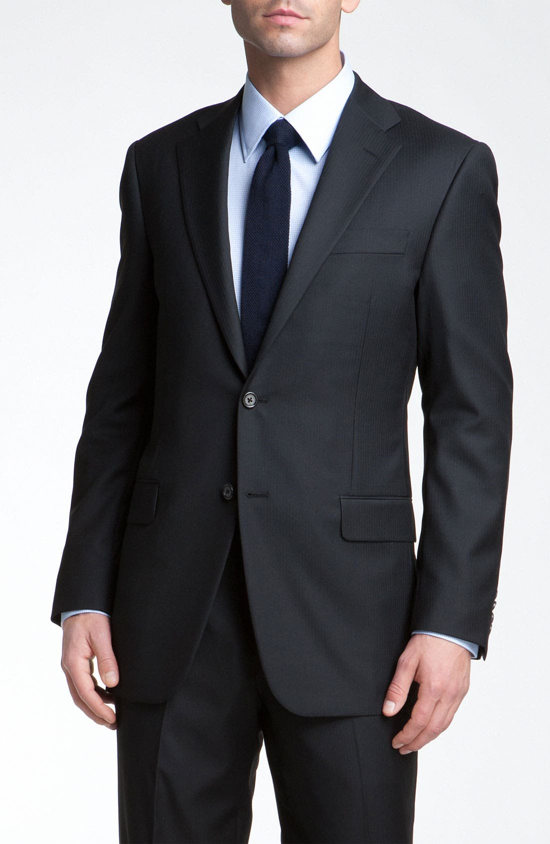 Alternate Image 3  - Hickey Freeman Herringbone Suit