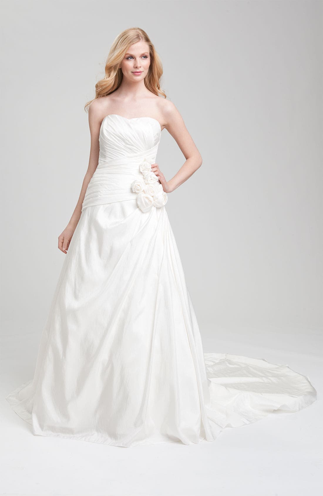 Alternate Image 1 Selected - Faviana Ruched Taffeta Strapless Gown