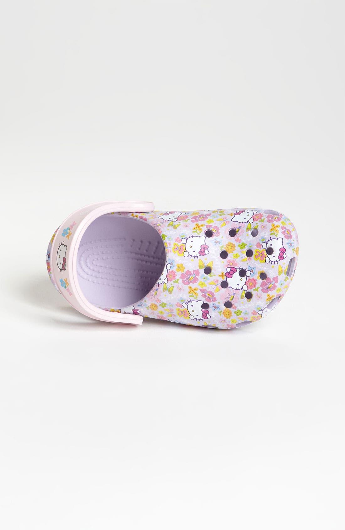Alternate Image 3  - CROCS™ 'Hello Kitty®' Slip-On (Walker & Toddler)