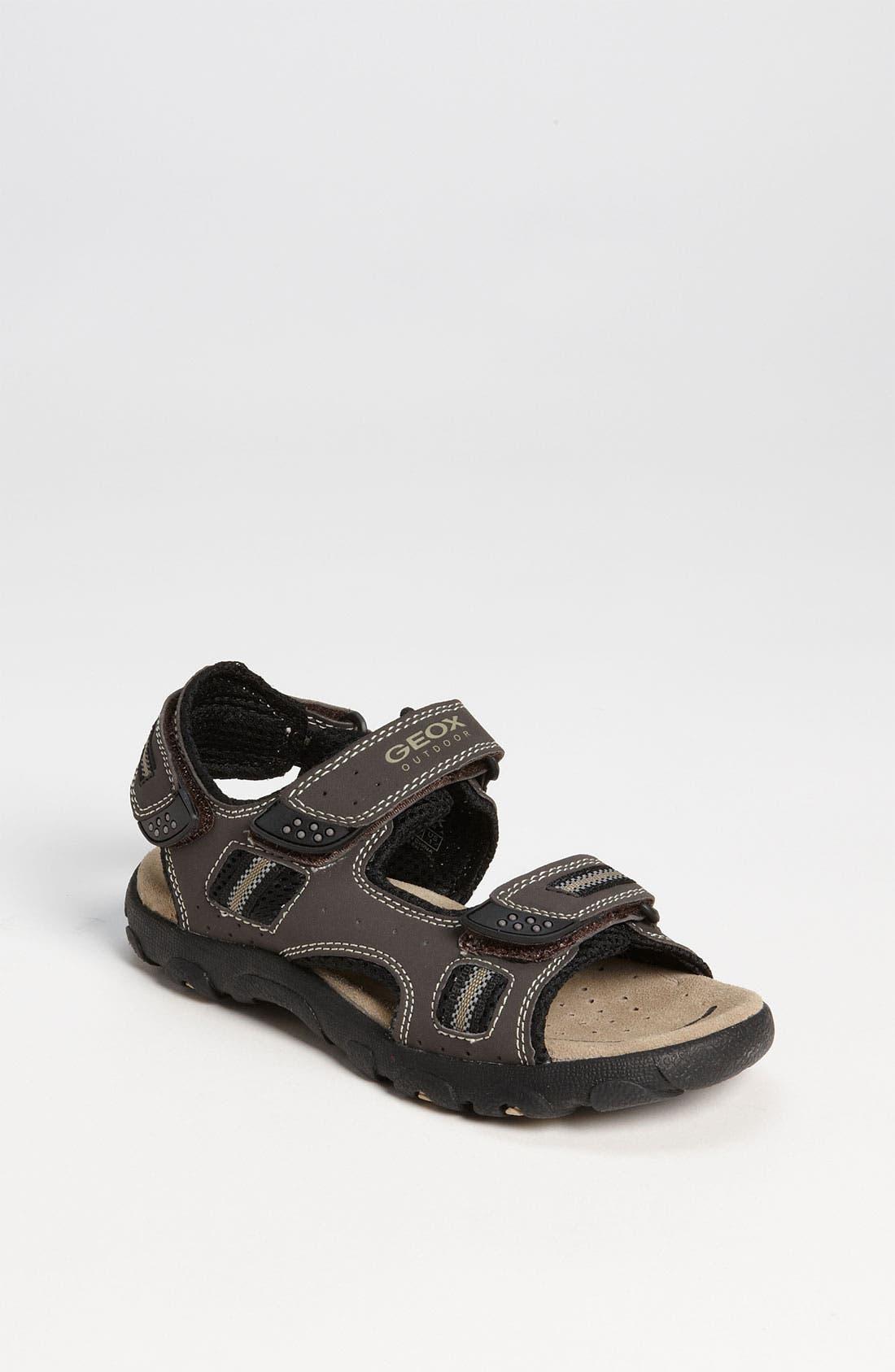 Alternate Image 1 Selected - Geox 'Strada' Sandal (Toddler, Little Kid & Big Kid)