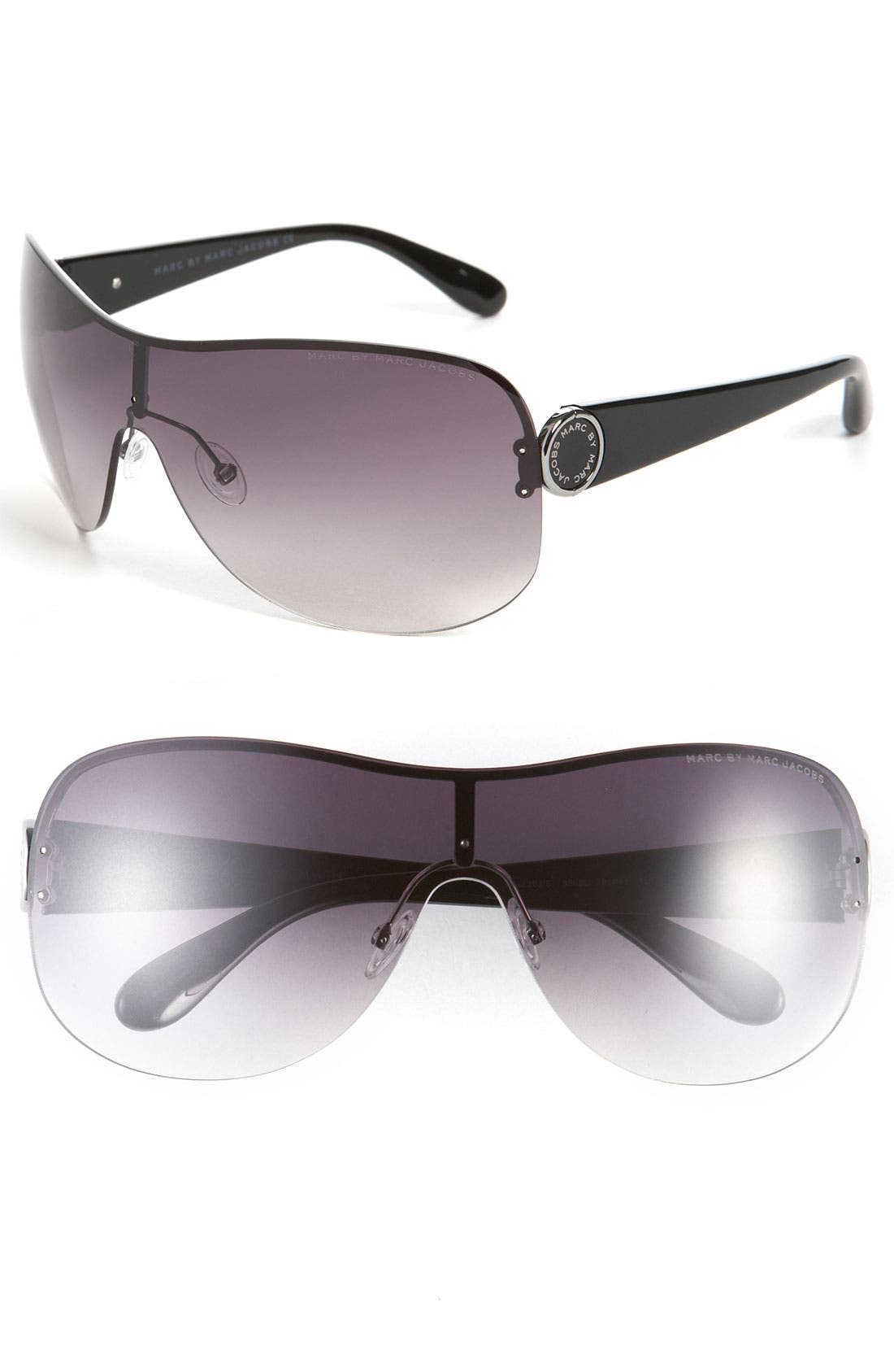 Alternate Image 1 Selected - MARC BY MARC JACOBS 99mm Rimless Shield Sunglasses