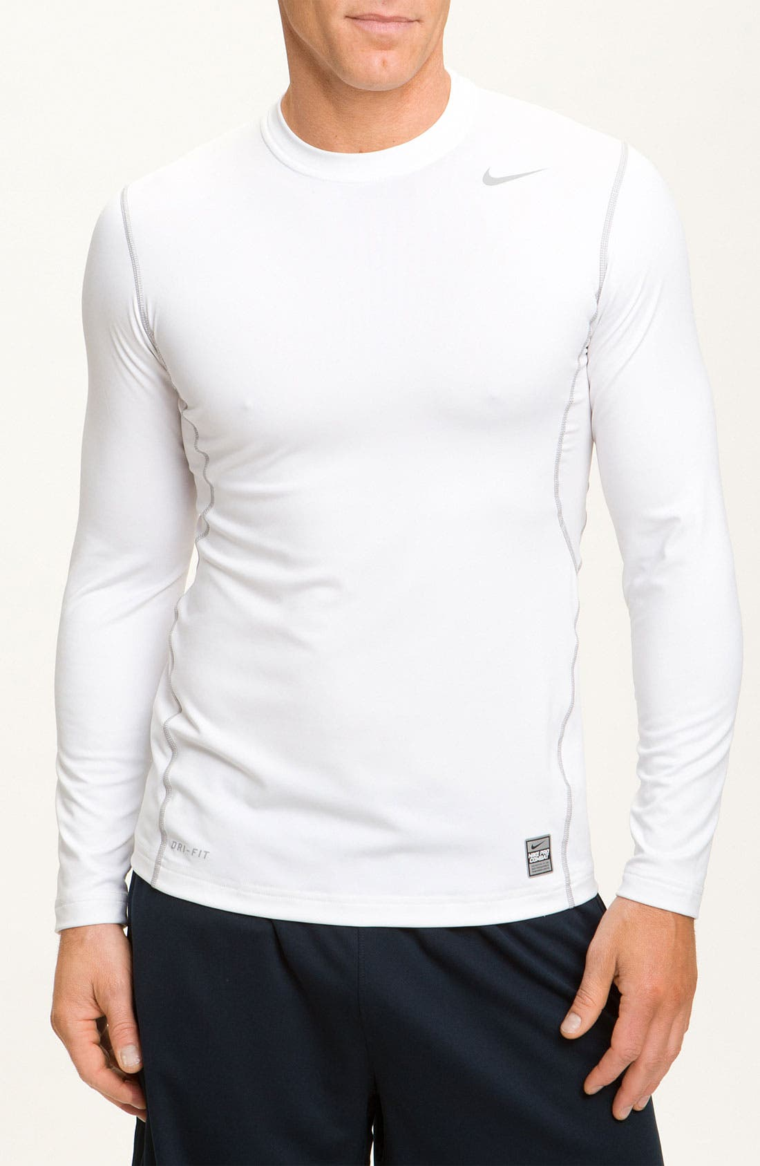 Alternate Image 1 Selected - Nike 'Hyperwarm' Dri-FIT Fitted T-Shirt