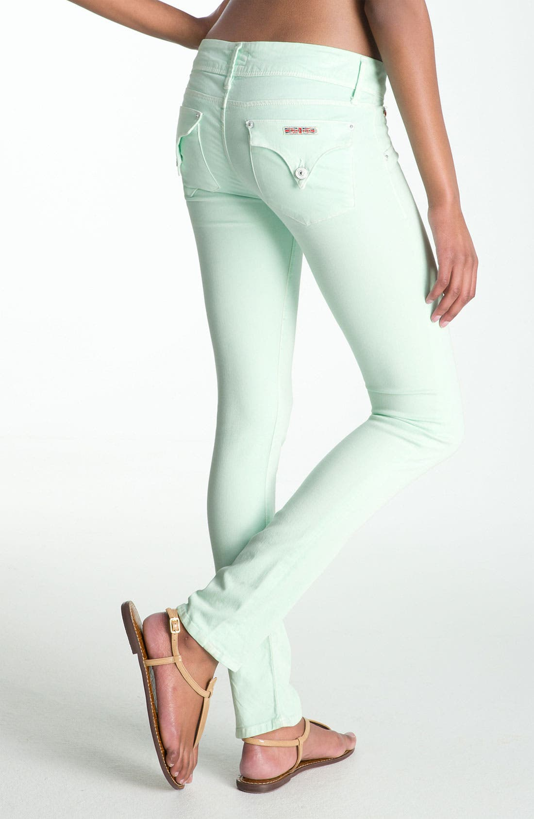 Alternate Image 1 Selected - Hudson Jeans Skinny Stretch Jeans (Mint)