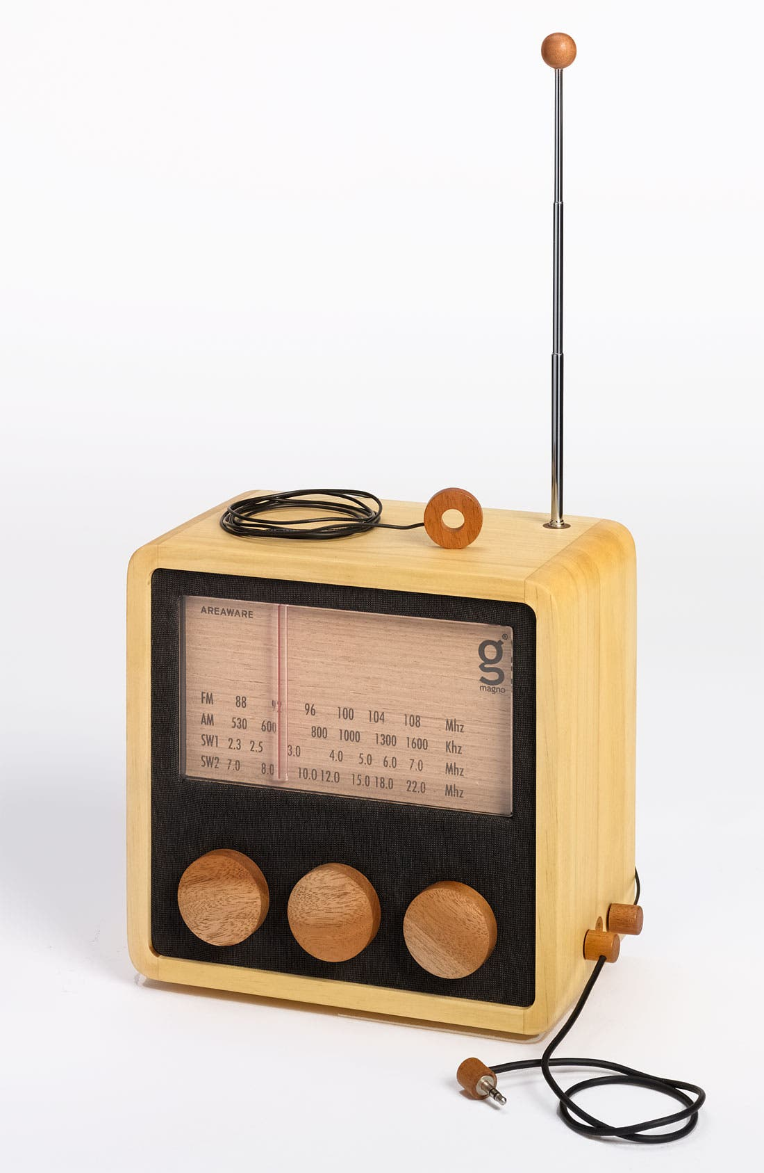 Alternate Image 3  - Handcrafted Pine & Mahogany 'Magno' Radio, Medium
