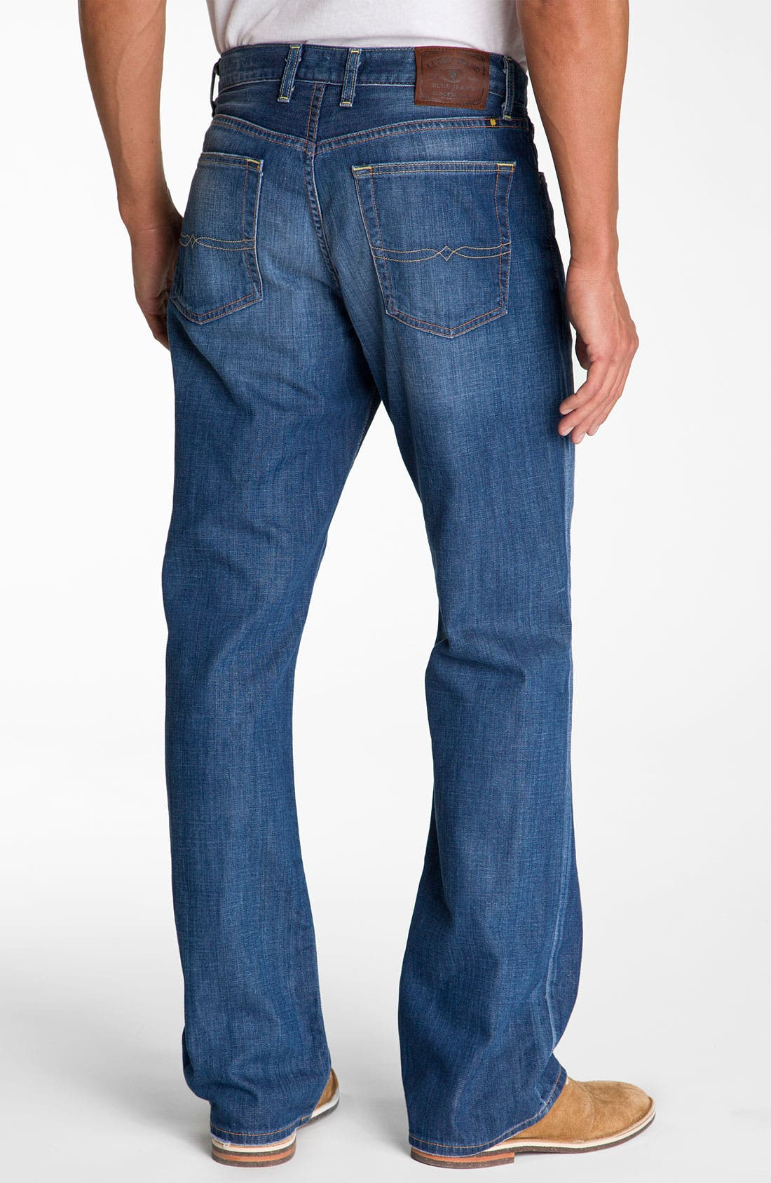 Alternate Image 2  - Lucky Brand Relaxed Straight Leg Jeans (Ol' Neptune)