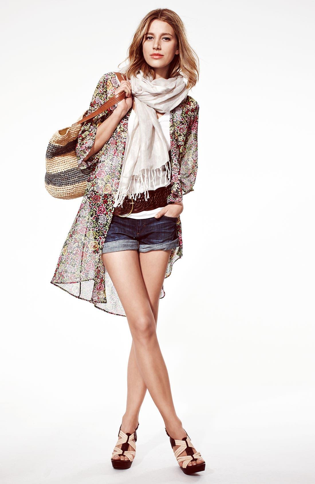 Alternate Image 4  - Bellatrix Floral Print Chiffon Robe