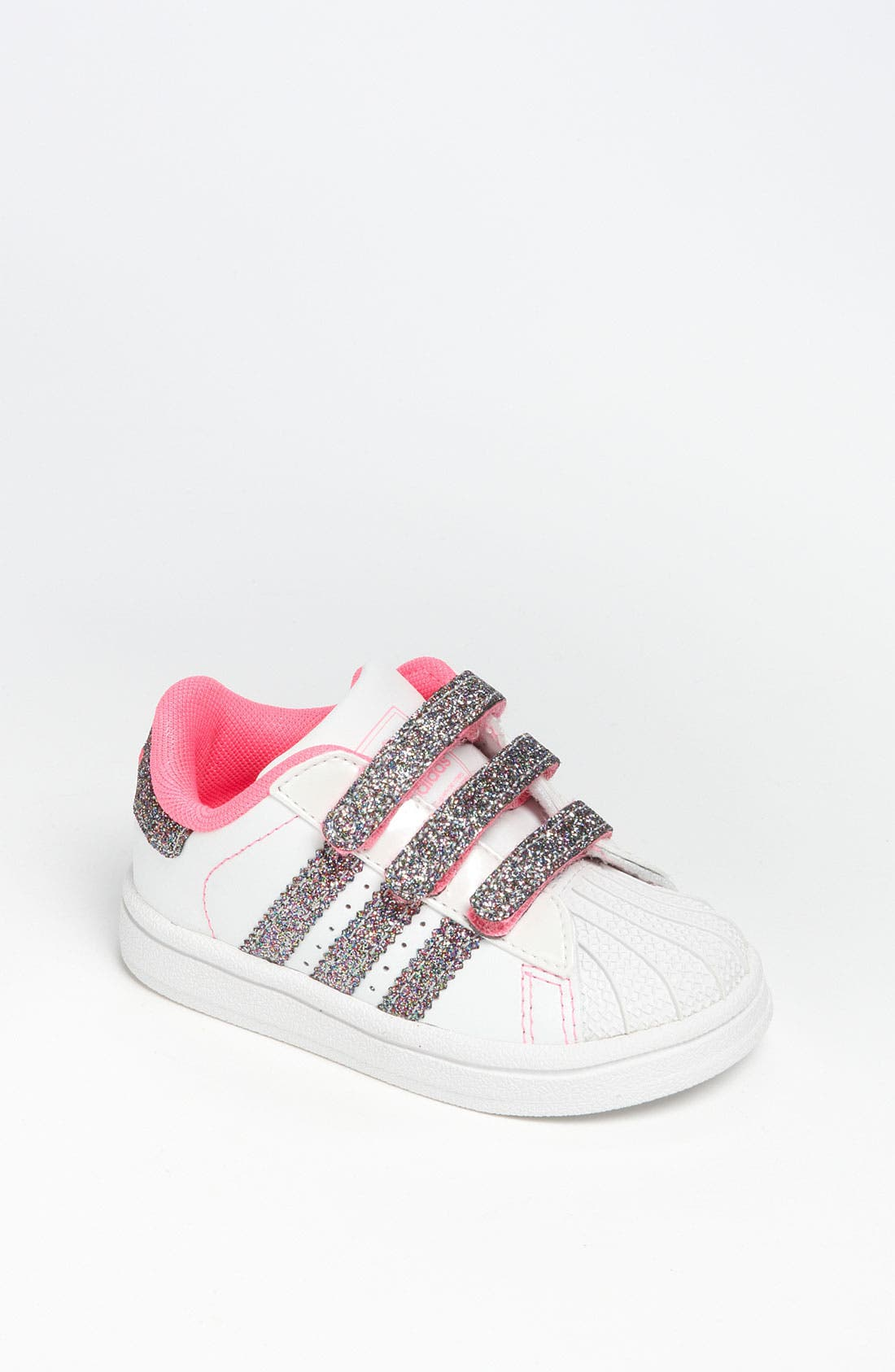 Alternate Image 1 Selected - adidas 'Sparkle Superstar 2' Sneaker (Baby, Walker & Toddler)