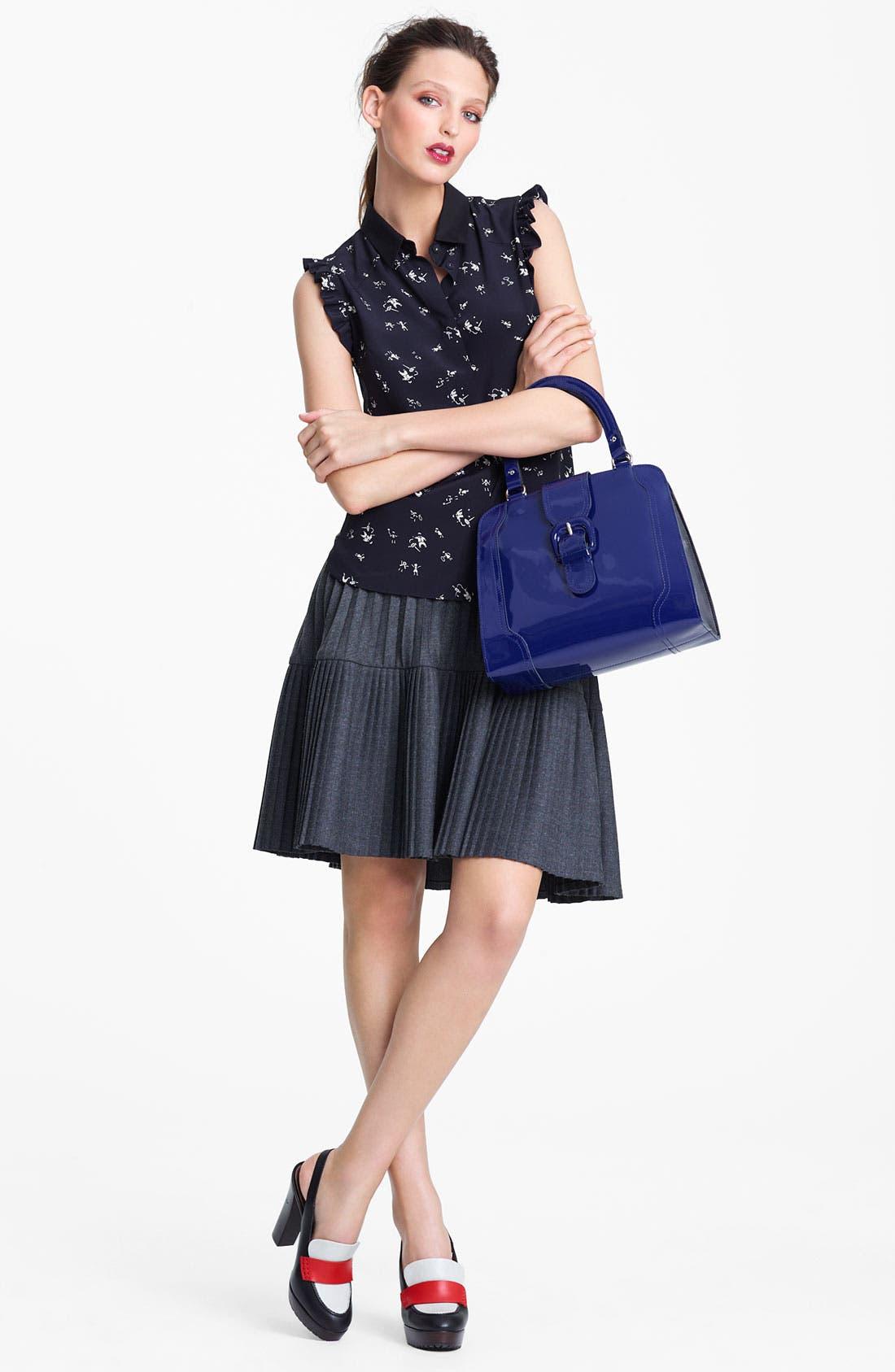 Alternate Image 4  - Marni Edition Pleated Mélange Flannel Skirt