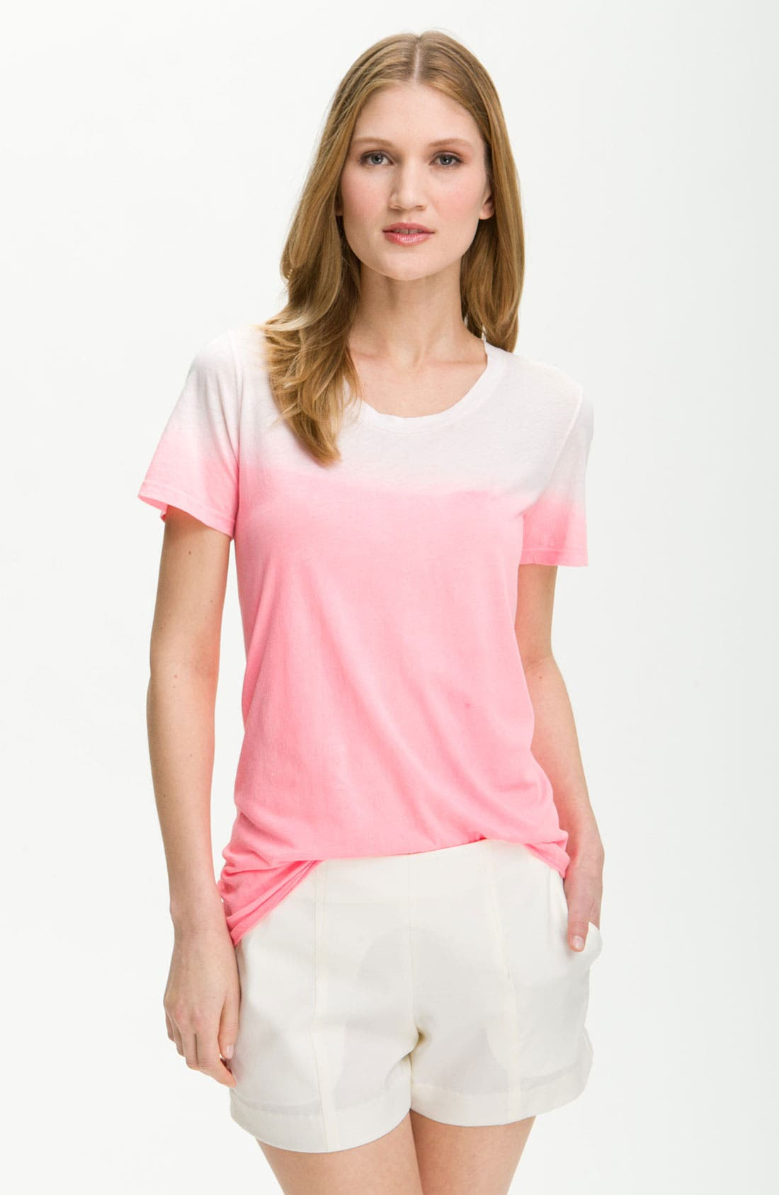 Alternate Image 1 Selected - Theory 'Cleo - Electrify' Dip Dye Tee