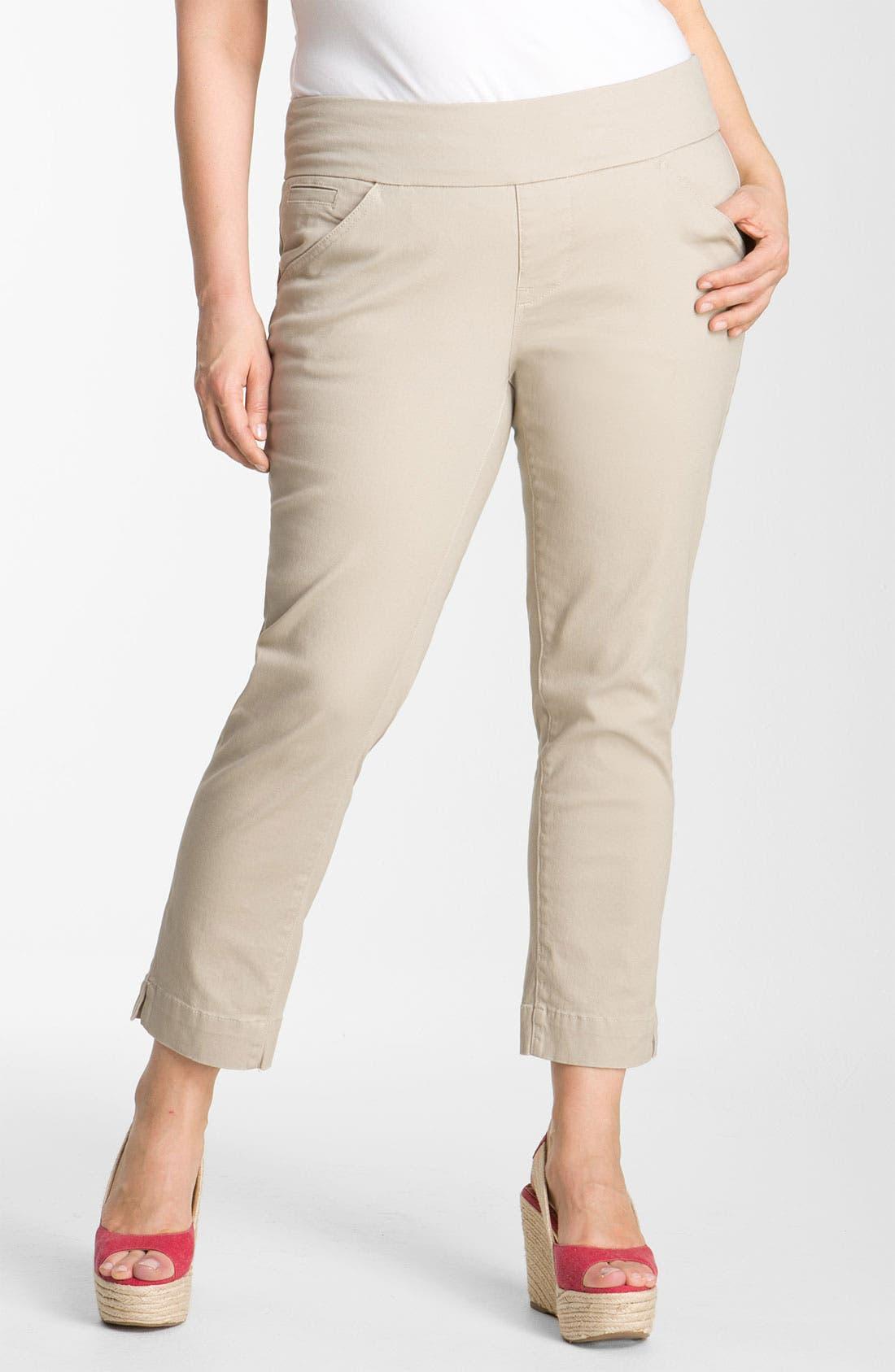 Alternate Image 1 Selected - Jag Jeans 'Attie' Slim Ankle Pants (Plus)
