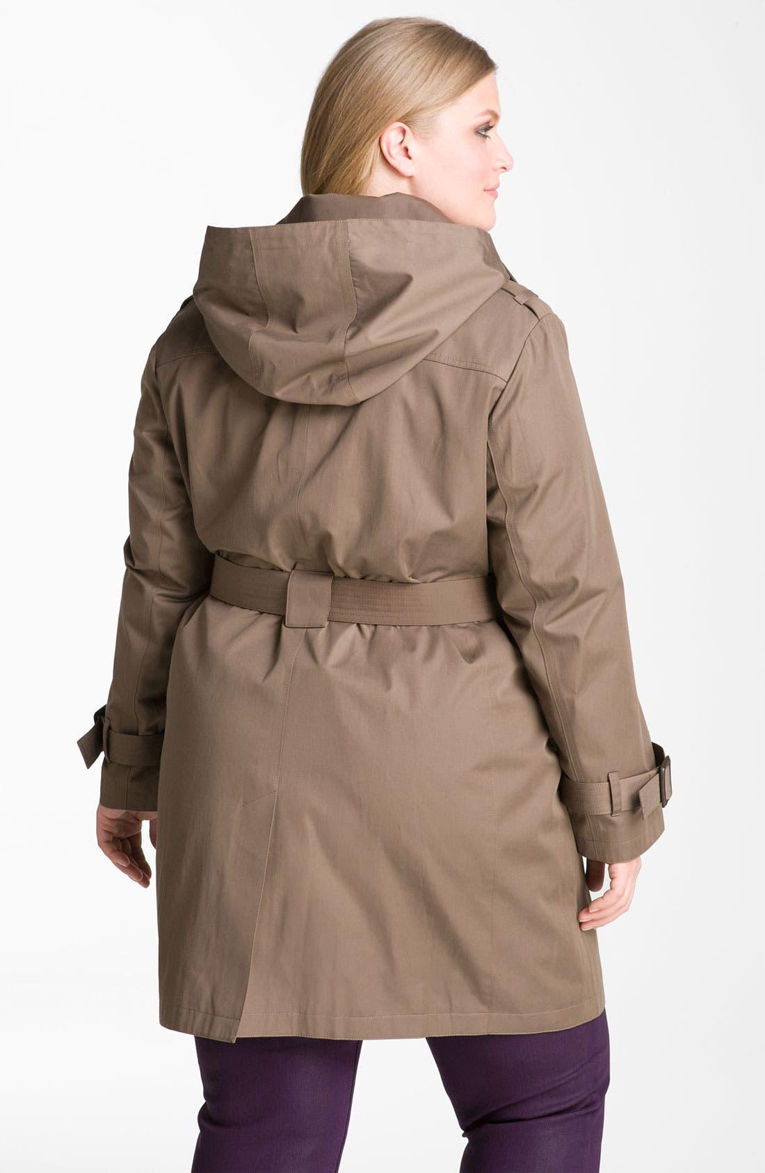 Alternate Image 2  - MICHAEL Michael Kors Trench Coat with Detachable Liner (Plus)
