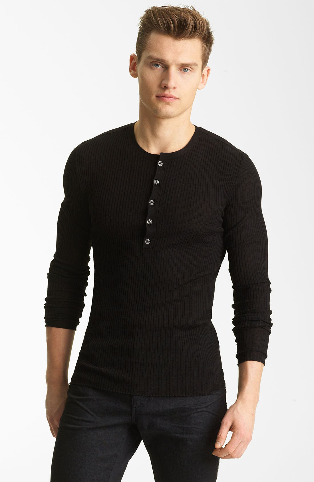 Main Image - John Varvatos Collection Wool Knit Henley