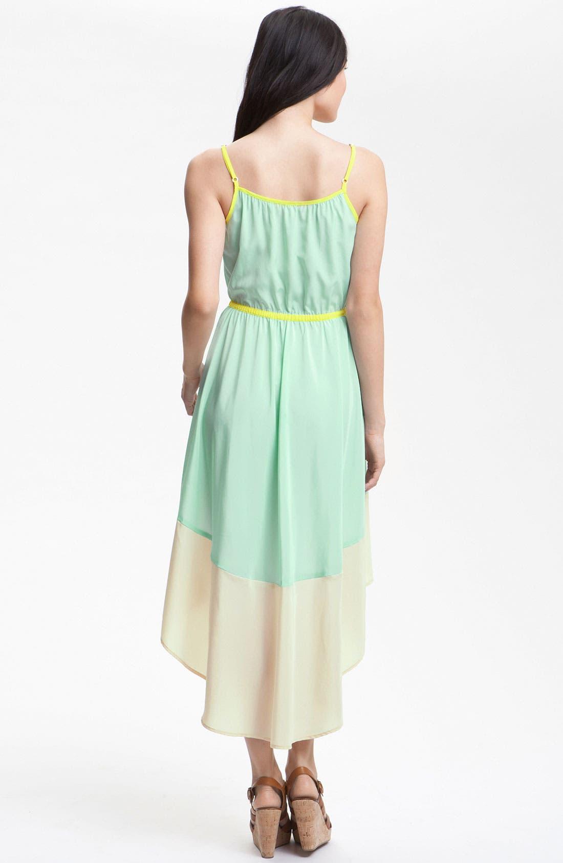 Alternate Image 2  - Willow & Clay Colorblock Asymmetrical Hem Dress