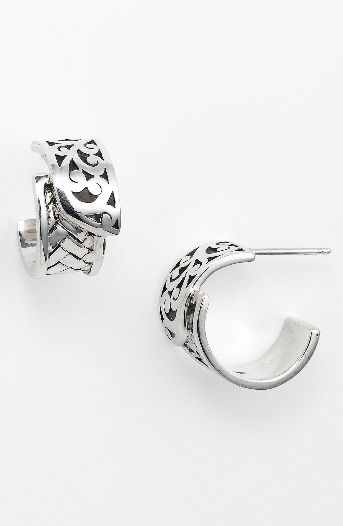Alternate Image 1 Selected - Lois Hill 'Basket Weave' Hoop Earrings