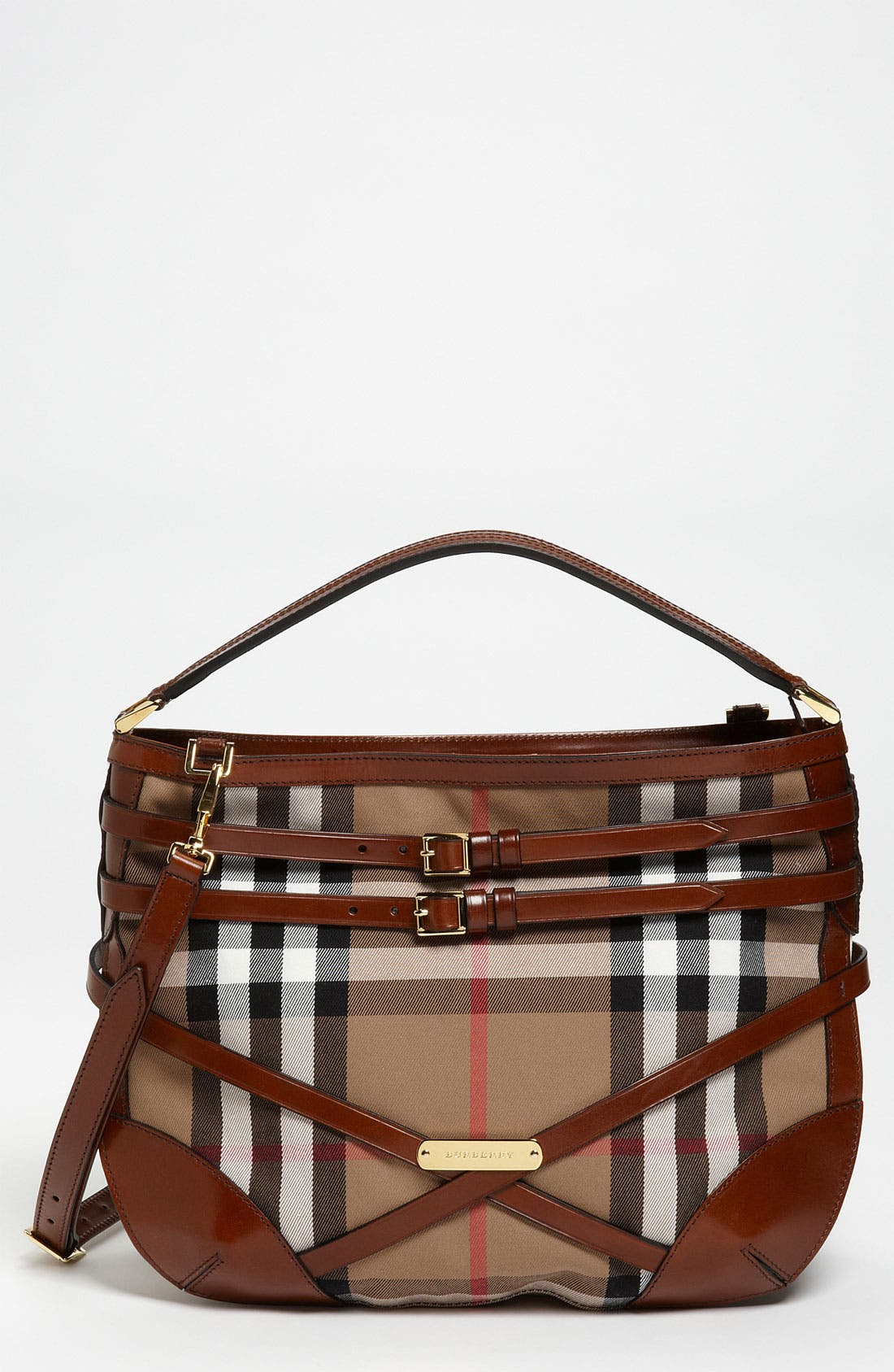 Main Image - Burberry 'House Check' Hobo