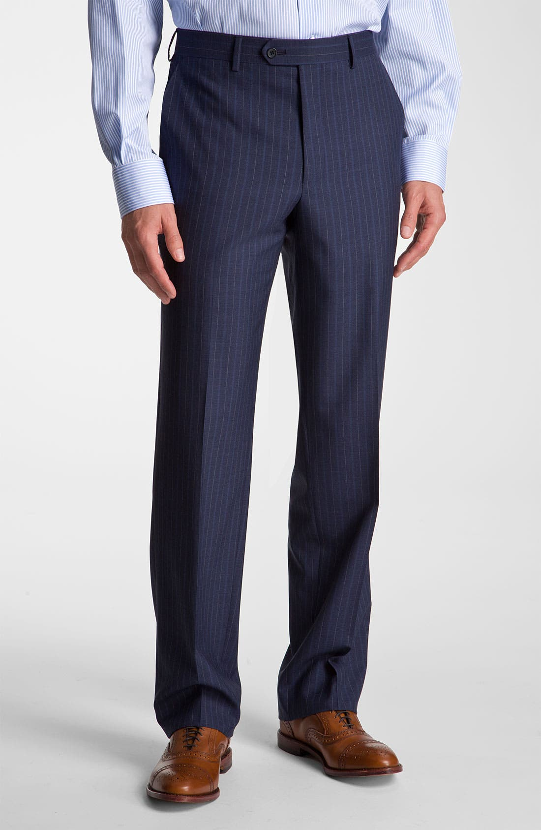Alternate Image 4  - Robert Talbott Navy Pinstripe Wool Suit