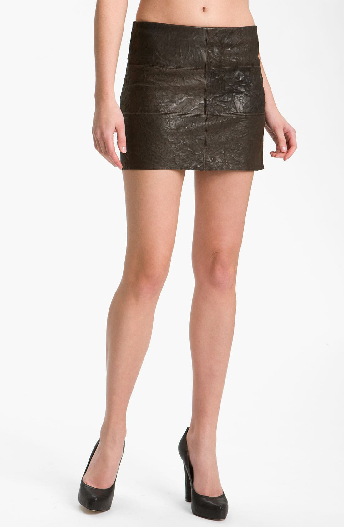 Main Image - Bailey 44 'Brevity Is the Soul' Patchwork Leather Miniskirt