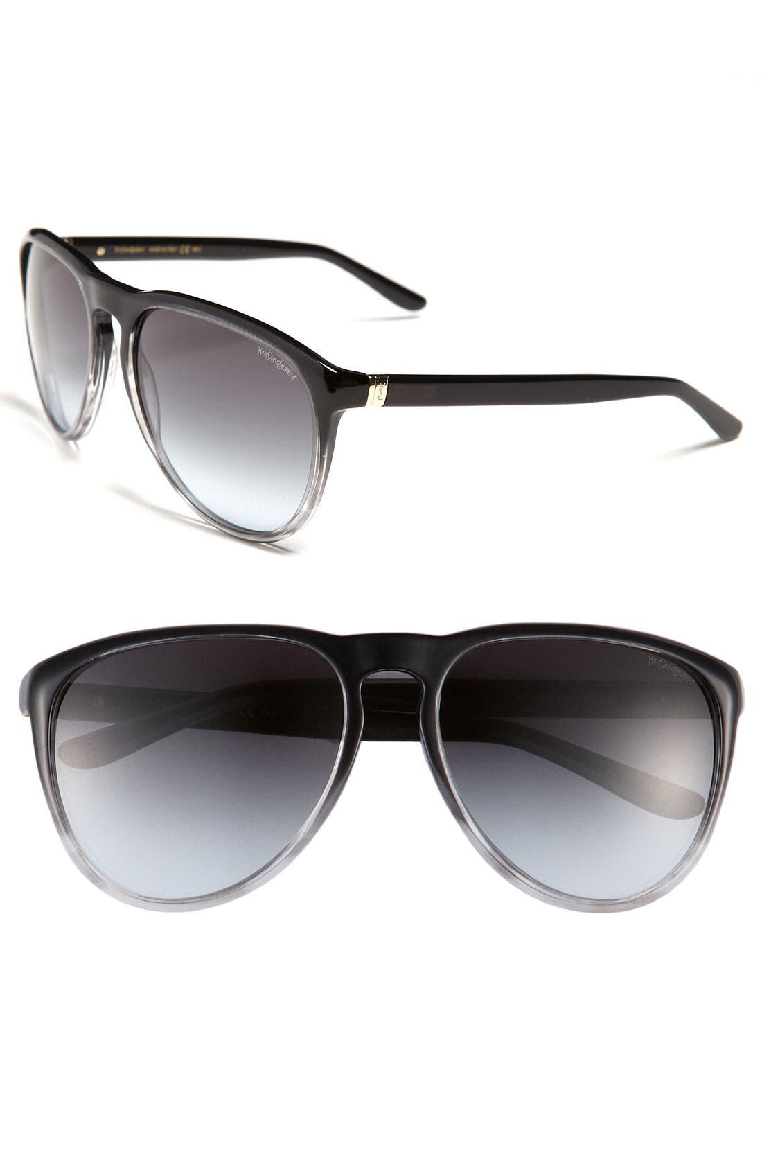Main Image - Yves Saint Laurent Retro Sunglasses