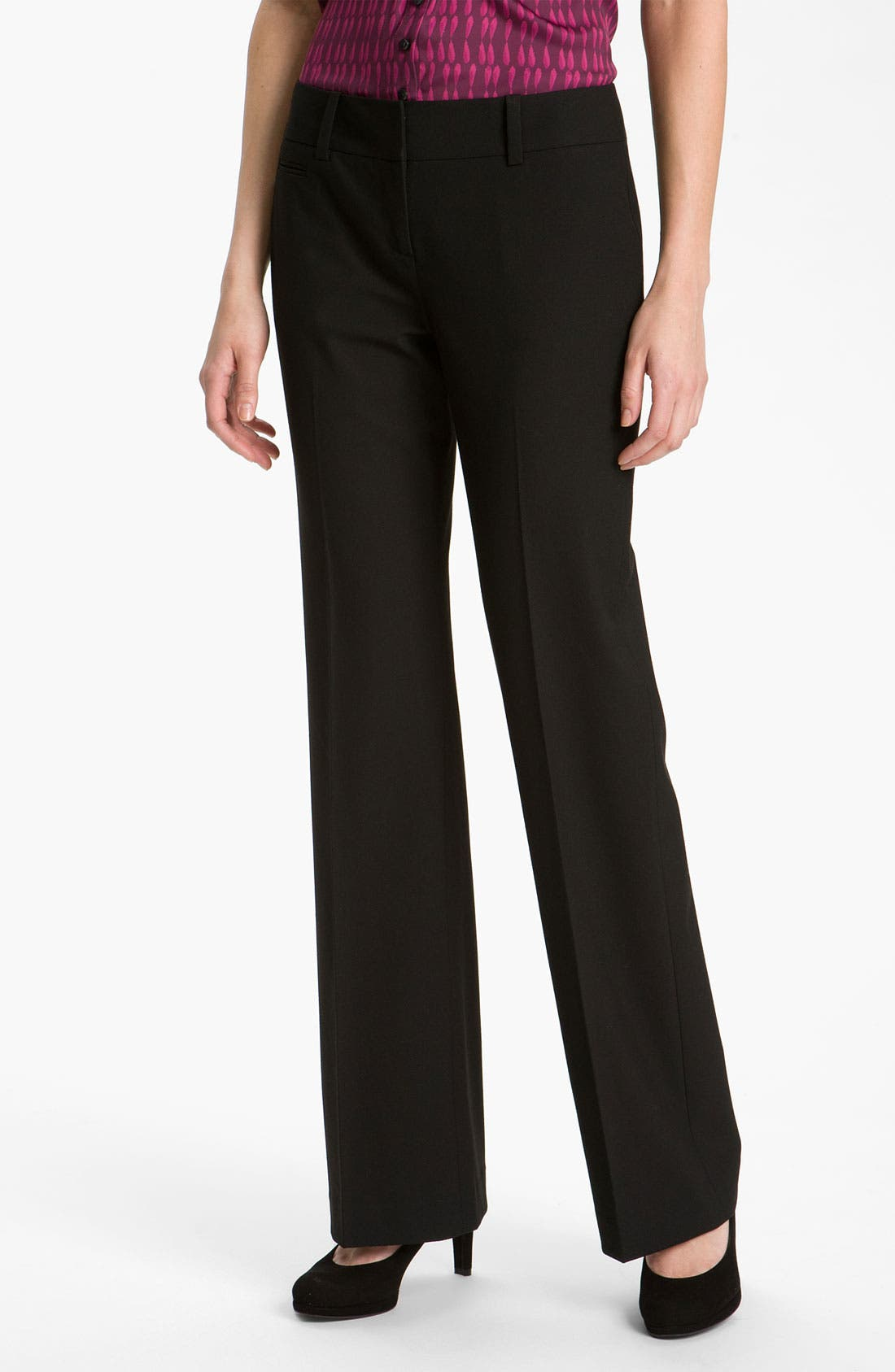 Alternate Image 1 Selected - Halogen® 'Taylor' Curvy Fit Pants